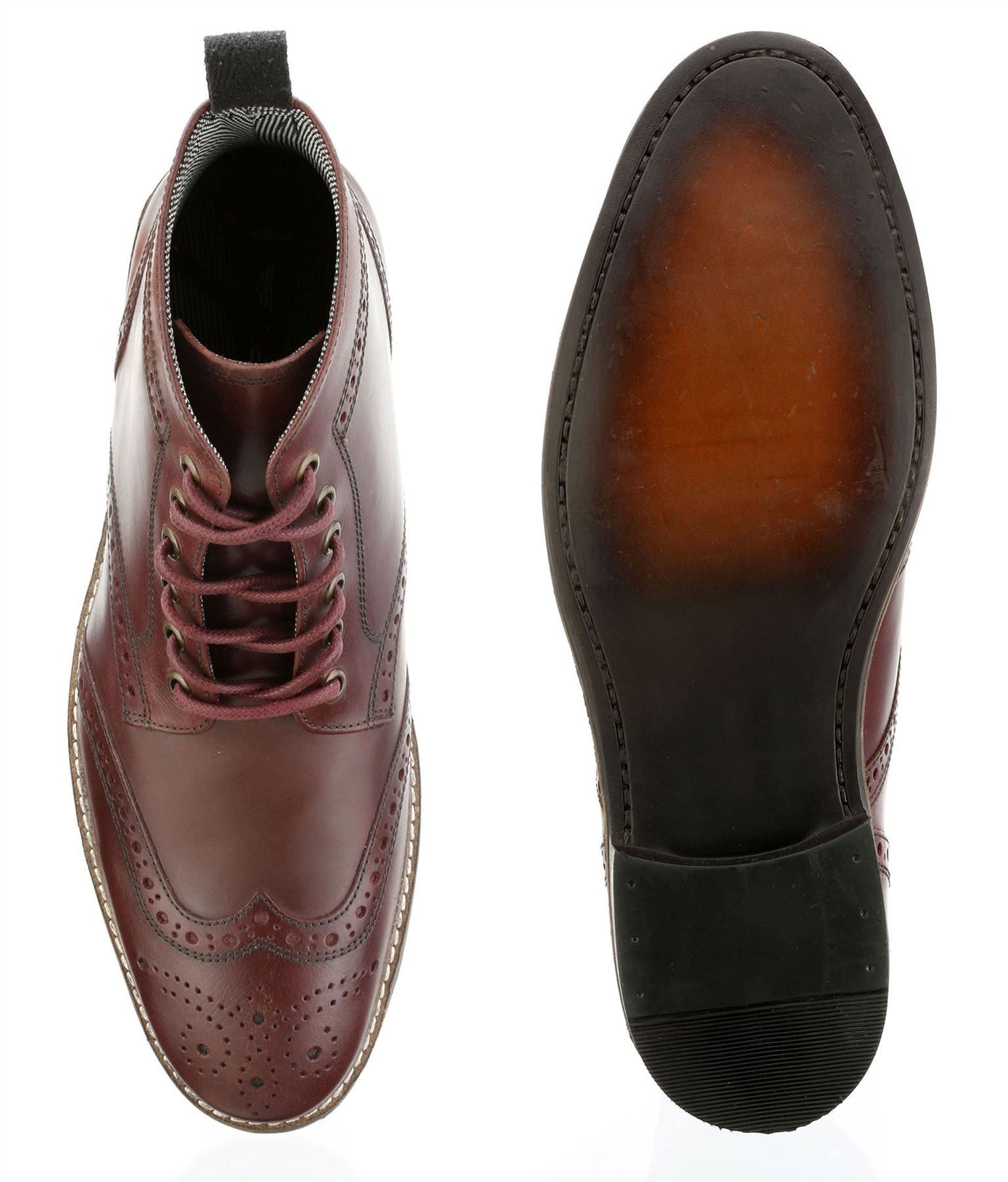 Red-Tape-Glaven-Brogue-Lace-Up-Leather-Mens-Boots