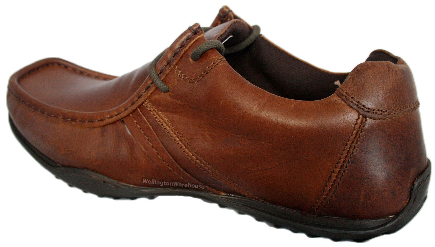 Red Tape Kinder Mens tan brown casual comfort leather lace up smart shoes