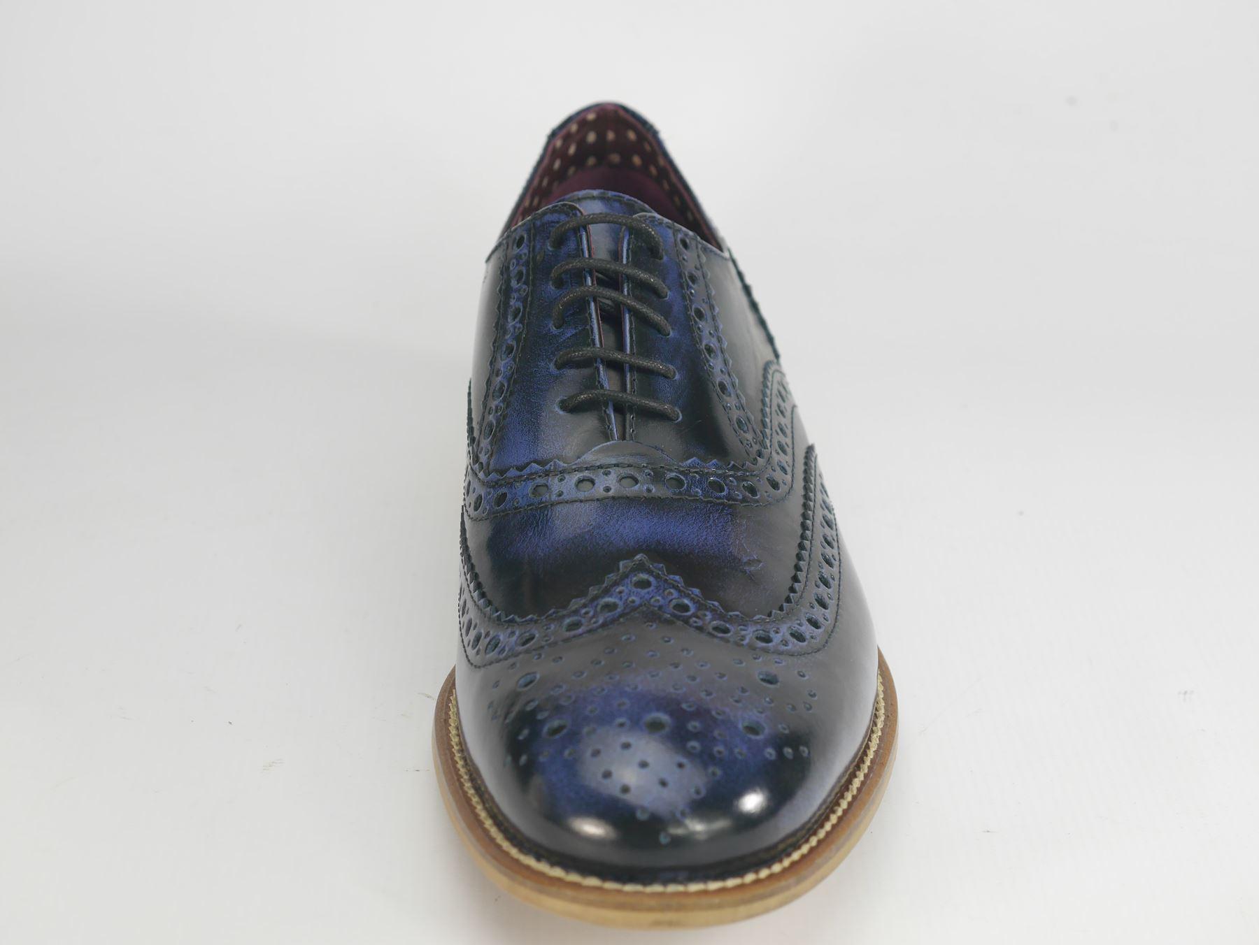 London Brogues  Uomo Formal Leder Lace Up Wingtip Formal Uomo GATSBY Evening Brogue Schuhes b04374