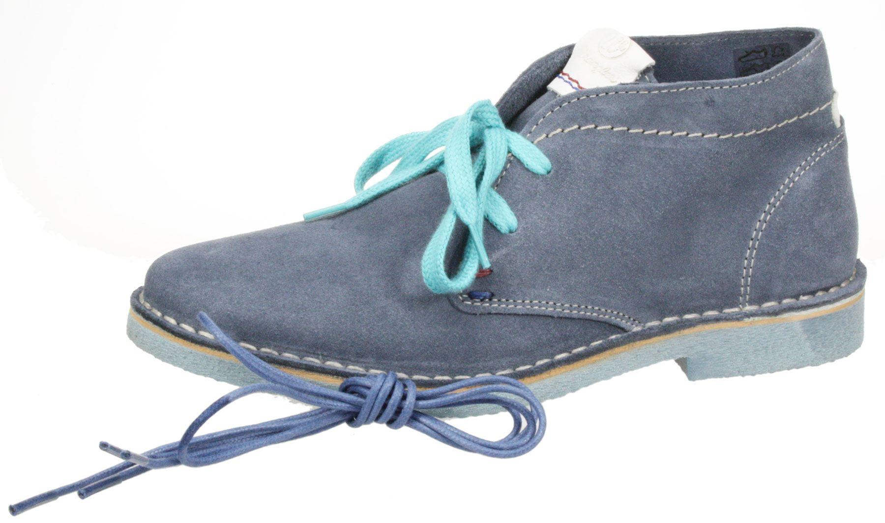 Desert Wildleder Ankle Wrangler Blau Damen Boots Leder Churlish Desert cAqRj354L