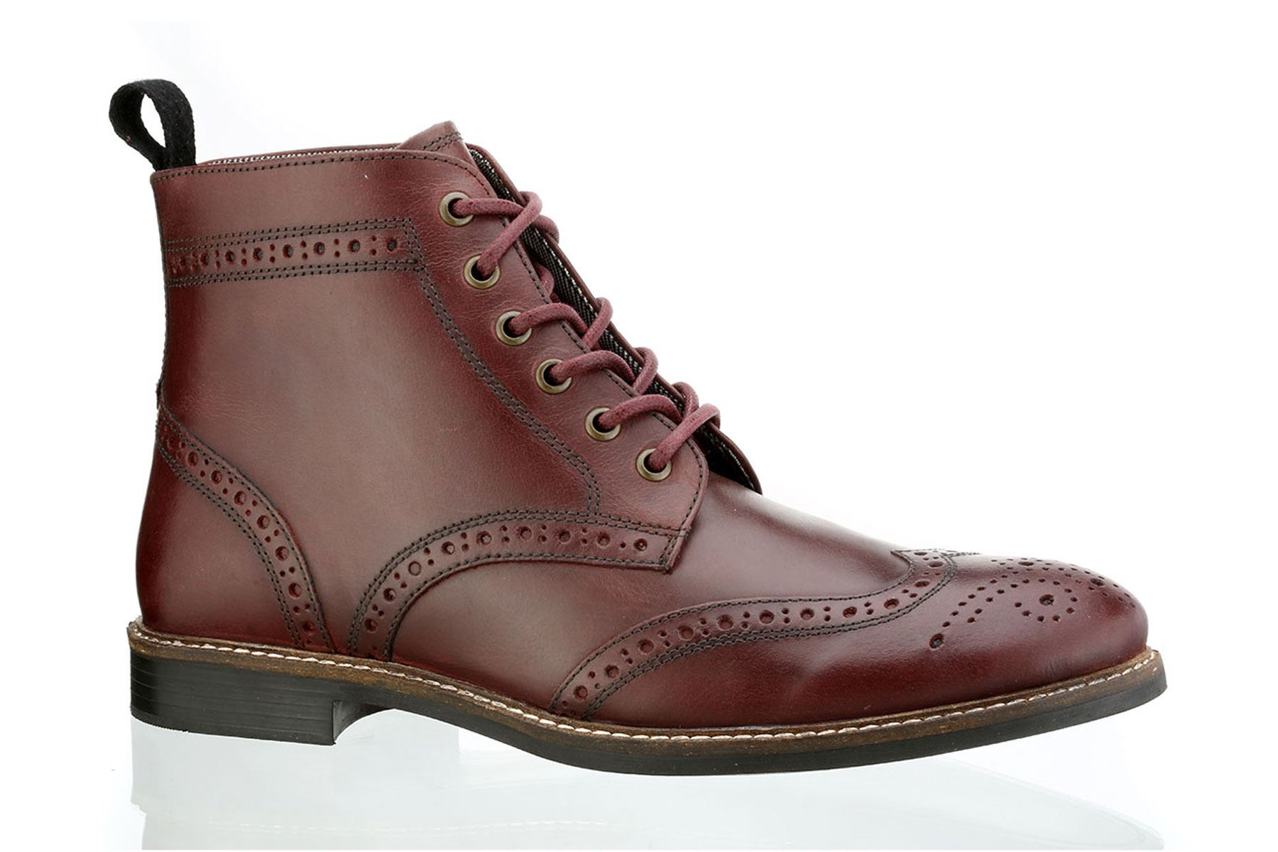 Red Tape Brogue Boots Leather 3itjJNZCy