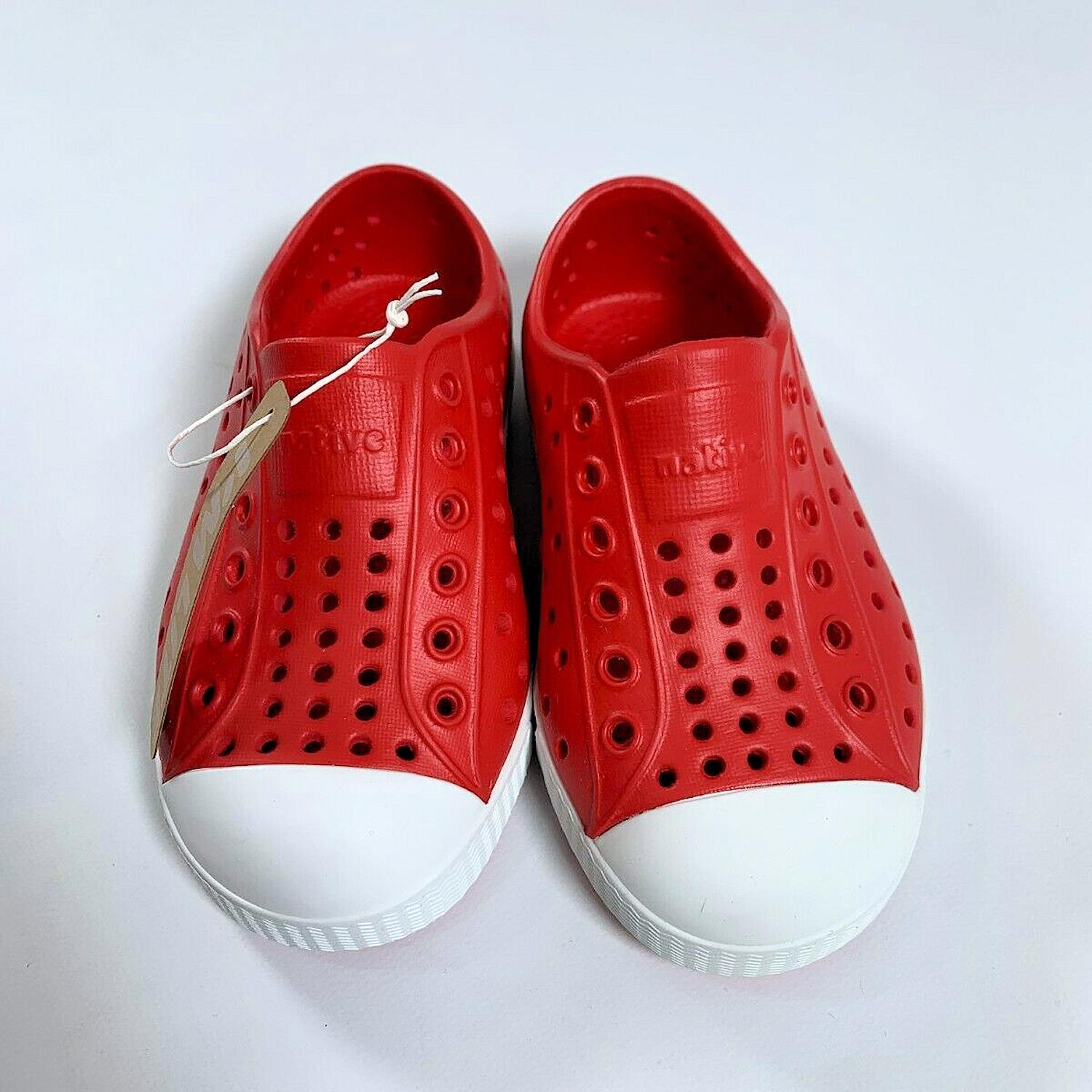 Native Shoes Jefferson Mischievous Genius Torch Red//Shell White Child