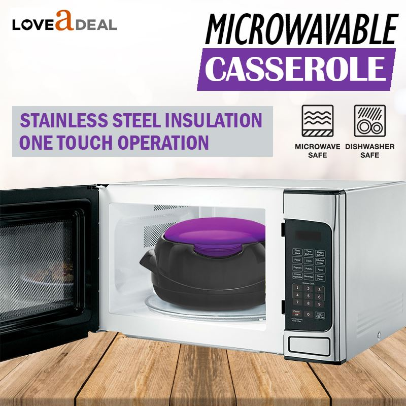 Microwaveable-Insulated-Lunch-Box-Hot-Pot-Food-Serving-Dish-Insulated-Casserole thumbnail 5