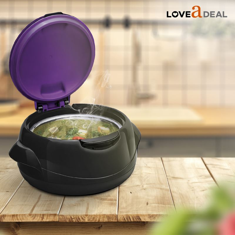 Microwaveable-Insulated-Lunch-Box-Hot-Pot-Food-Serving-Dish-Insulated-Casserole thumbnail 3