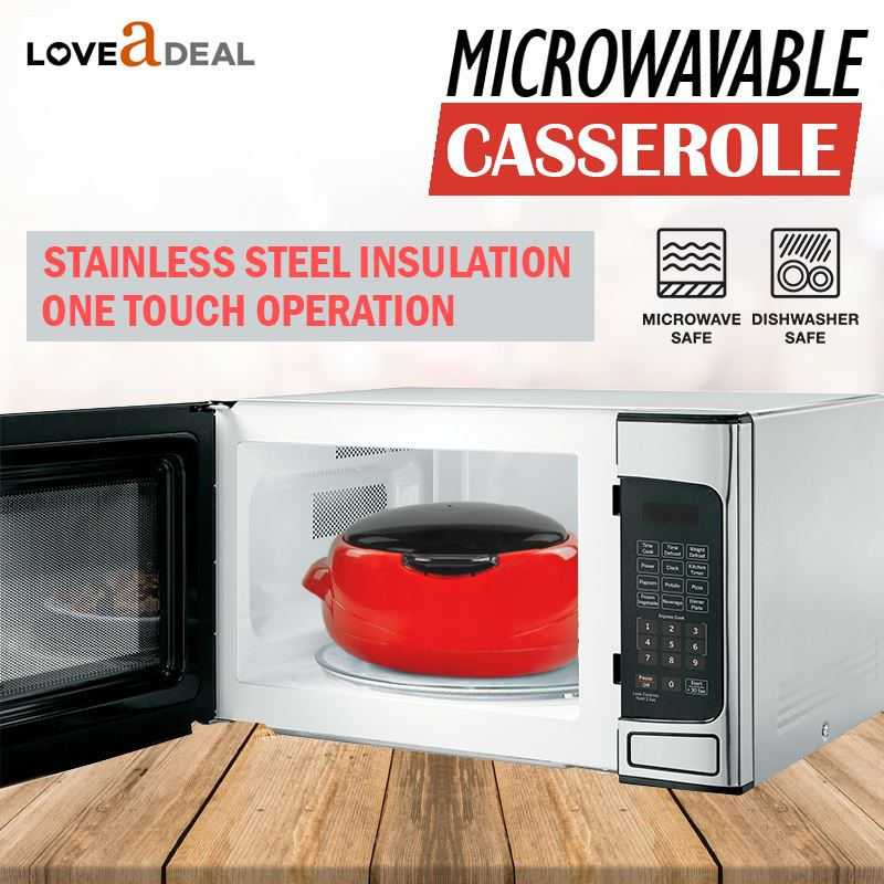 Microwaveable-Insulated-Lunch-Box-Hot-Pot-Food-Serving-Dish-Insulated-Casserole thumbnail 9