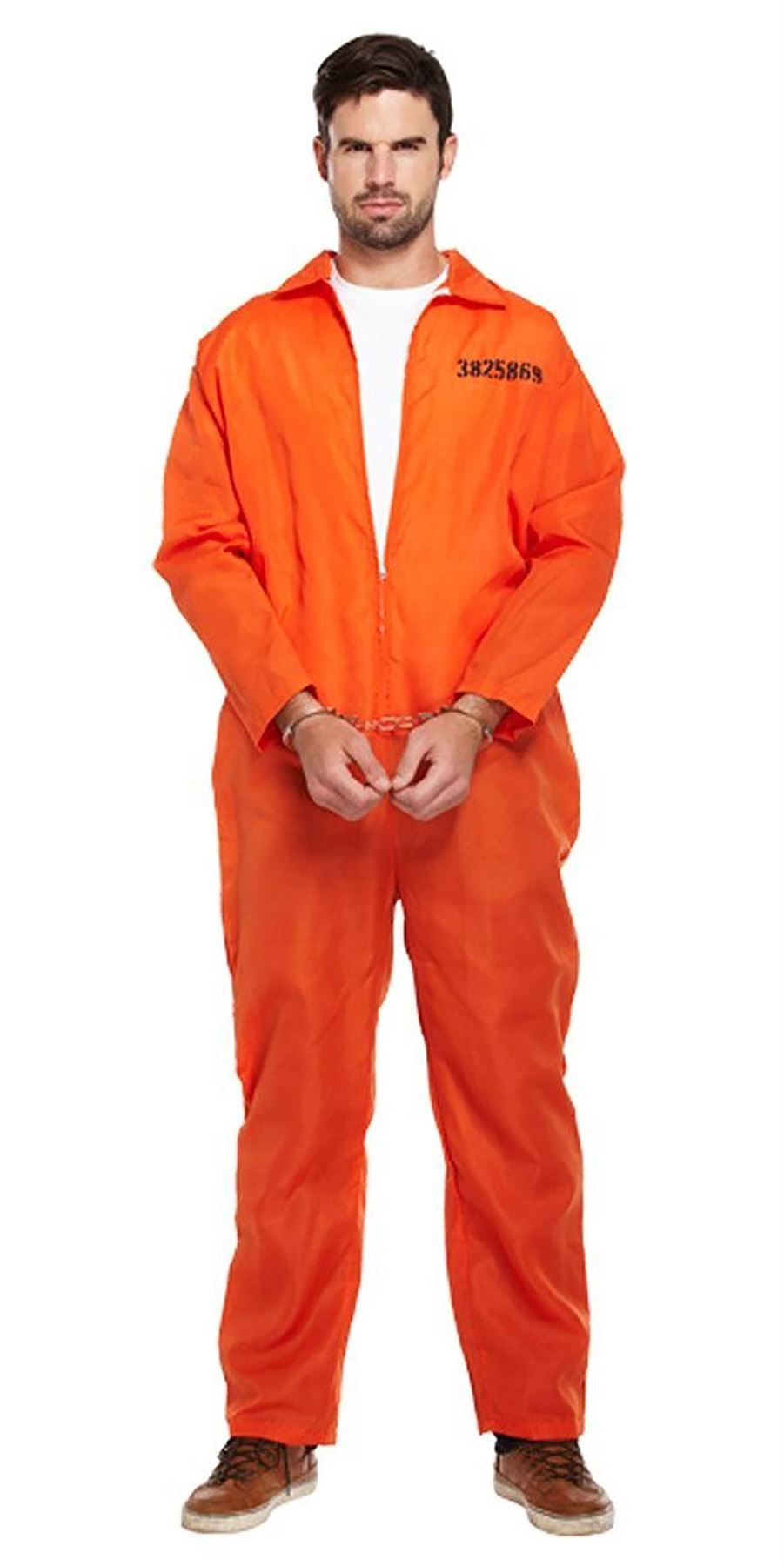 91a300d68fe9 Adults-Classic-Orange-Prisoner-Jumpsuit-Prison-Inmate-Fancy- Sc 1 St EBay
