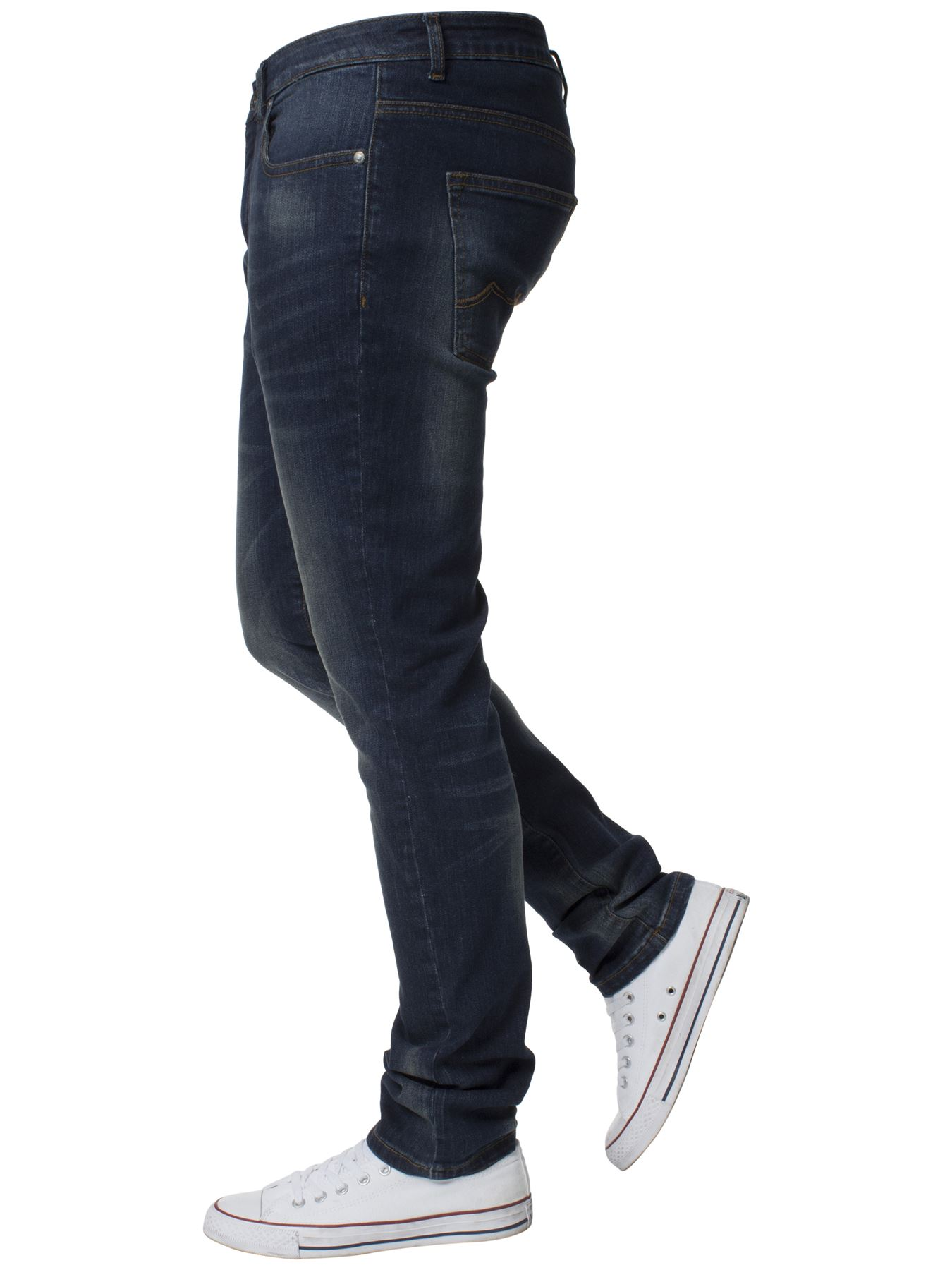Mens-Skinny-Stretch-Jeans-Slim-Fit-Flex-Denim-Trousers-Pants-King-Sizes-by-Kruze thumbnail 19