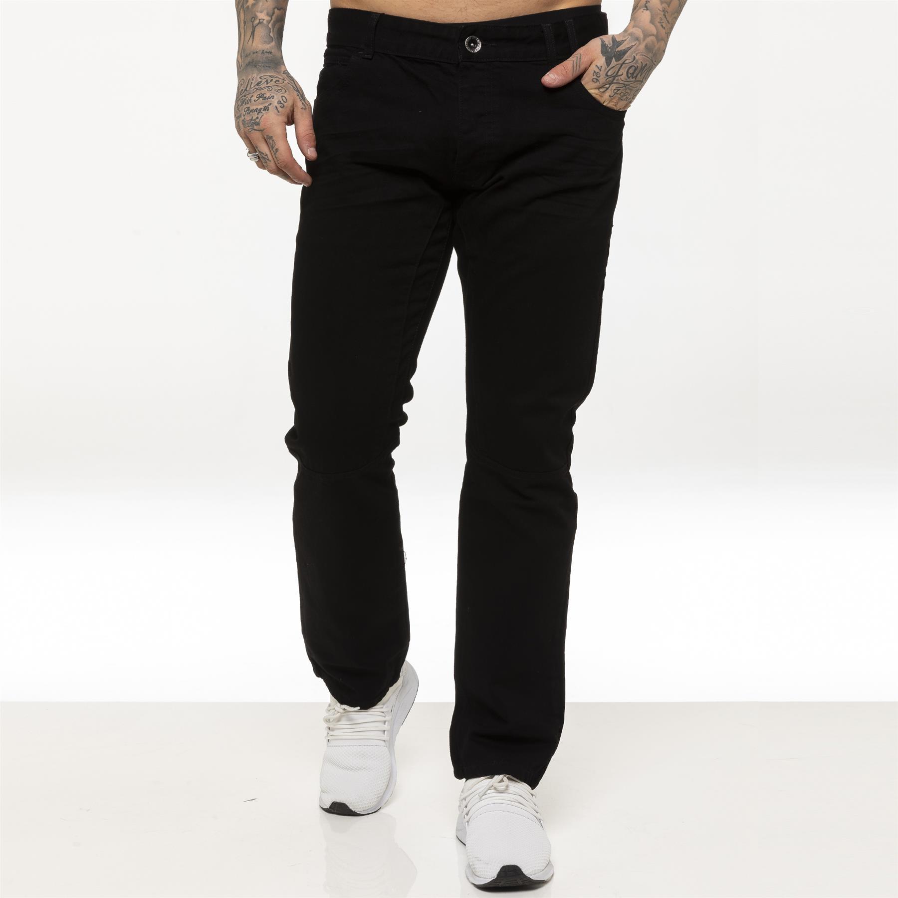 miniature 6 - Enzo pour homme coupe droite regular leg homme travail Denim Pantalon Toutes Tailles Tailles