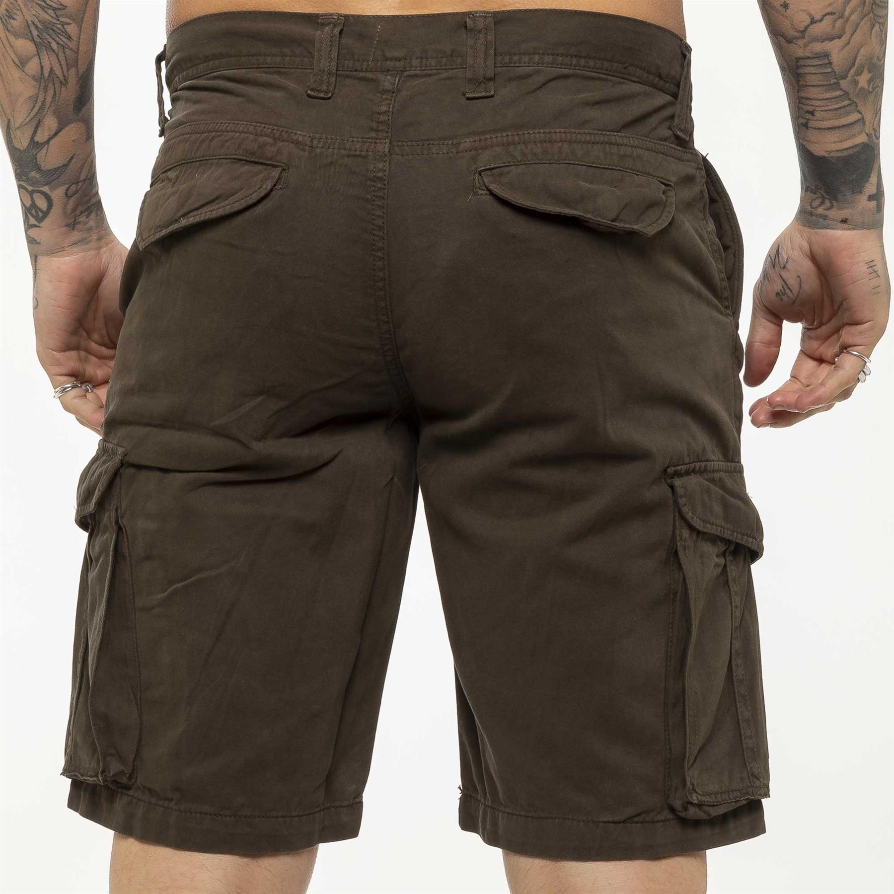 thumbnail 49 - Kruze Jeans Mens Army Combat Shorts Camouflage Cargo Casual Camo Work Half Pants