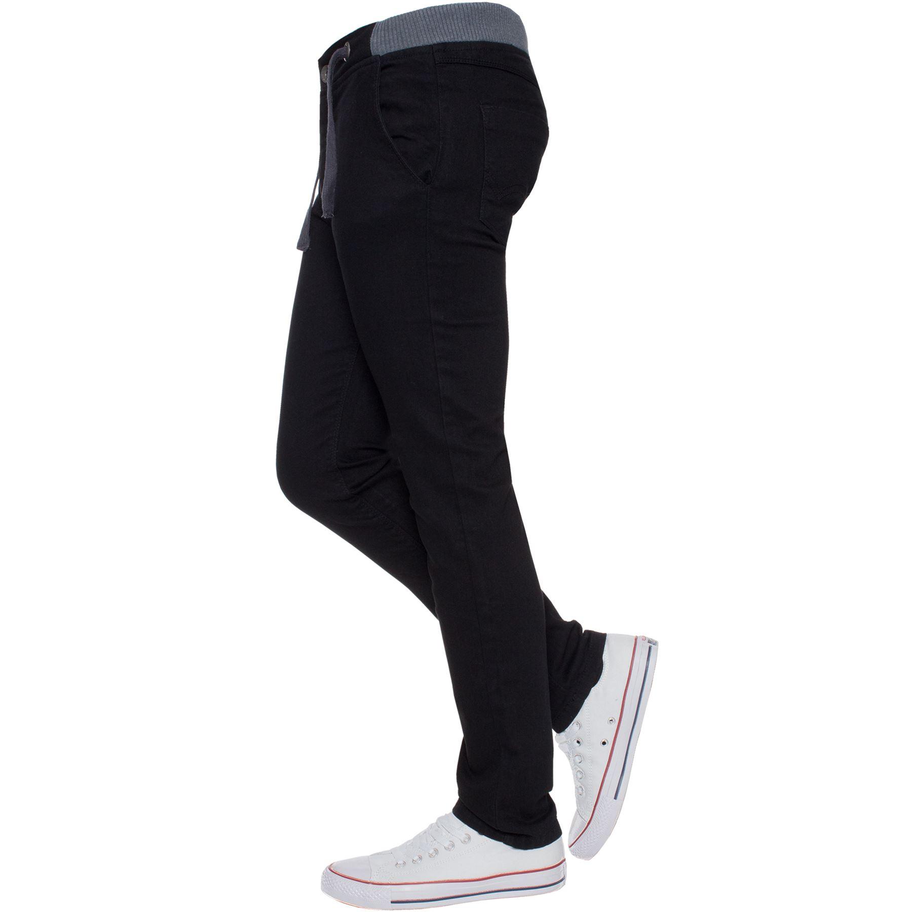 Jean-Garcon-Taille-Elastique-Enfants-Skinny-Stretch-School-Denim-Pantalon-Pantalon miniature 4