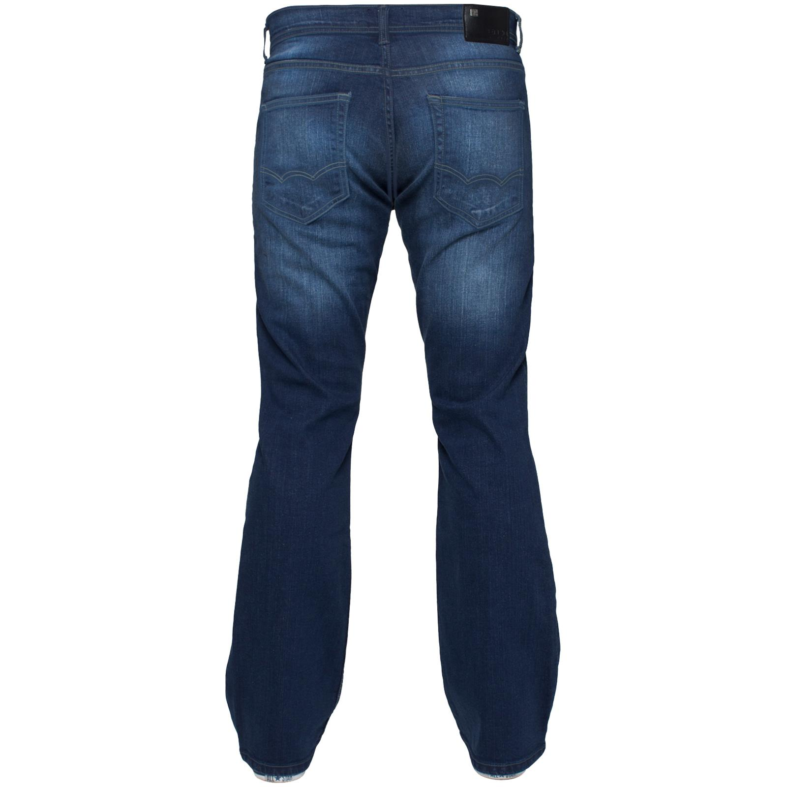 Enzo-Mens-Jeans-Big-Tall-Leg-King-Size-Denim-Pants-Chino-Trousers-Waist-44-034-60-034 miniature 64