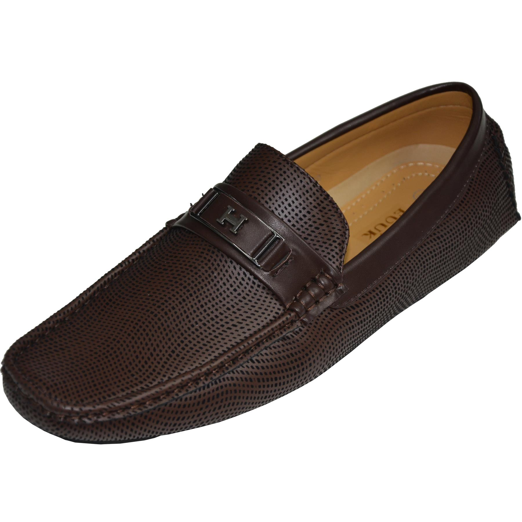 Mens-Slip-Ons-Shoes-Boat-Deck-Driving-Smart-Buckle-Moccasins-Suede-Look-Loafers thumbnail 16