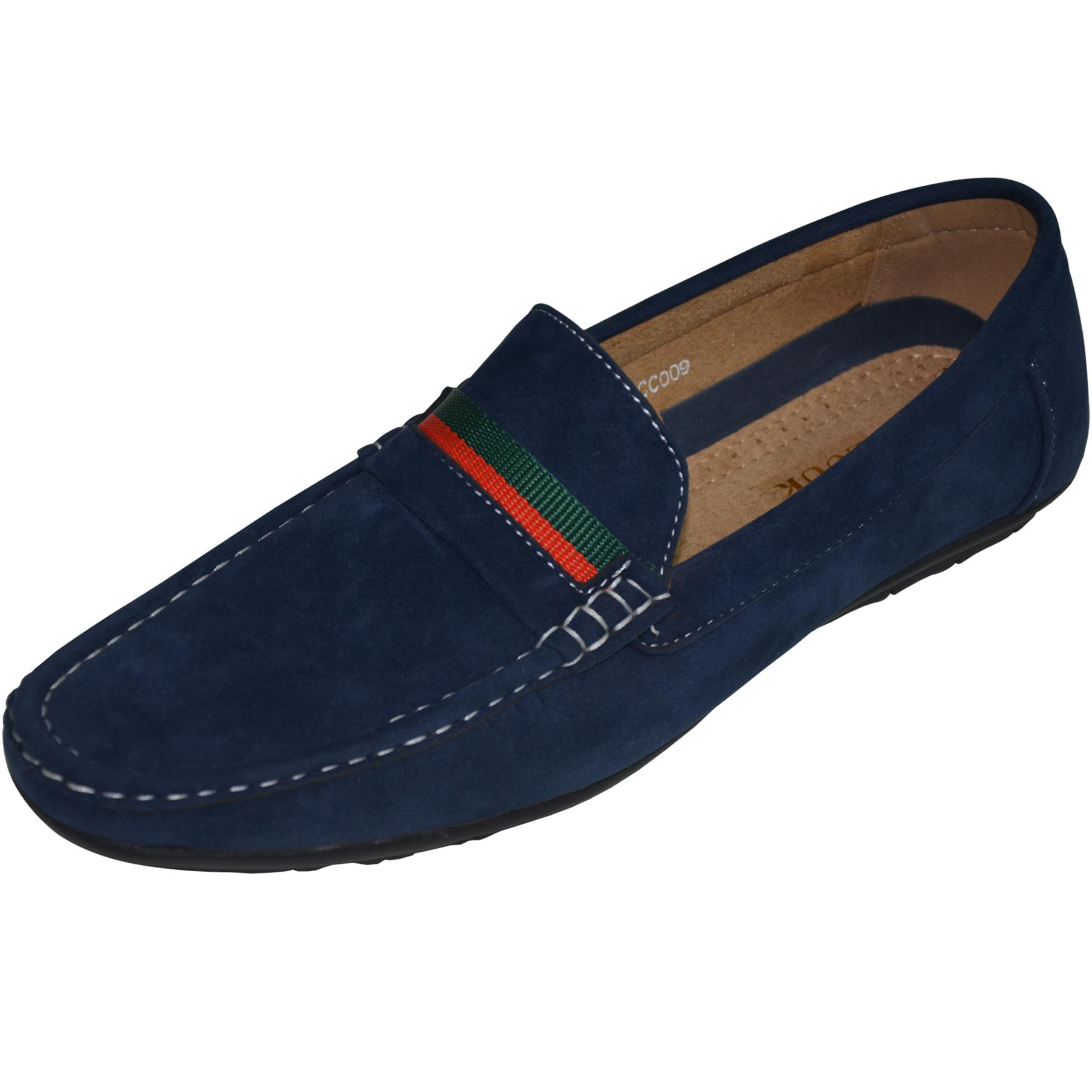Mens-Slip-Ons-Shoes-Boat-Deck-Driving-Smart-Buckle-Moccasins-Suede-Look-Loafers thumbnail 34