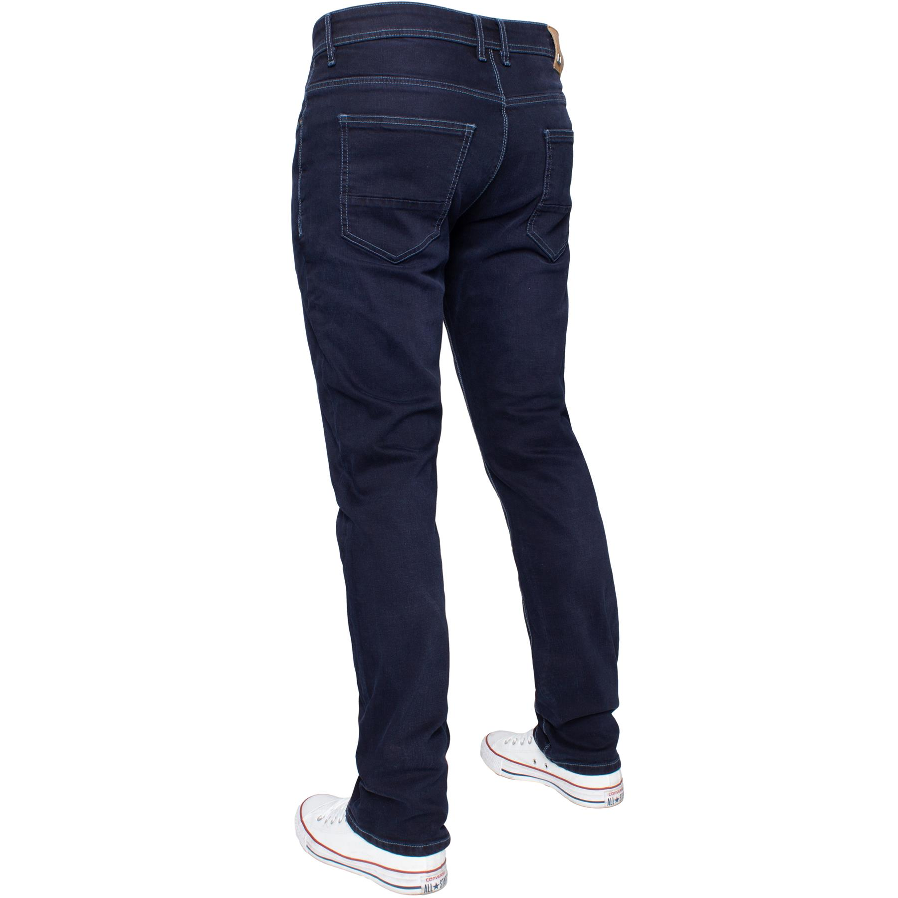 Eto-Designer-Mens-Tapered-Jeans-Slim-Fit-Stretch-Denim-Trouser-Pants-All-Waists thumbnail 25