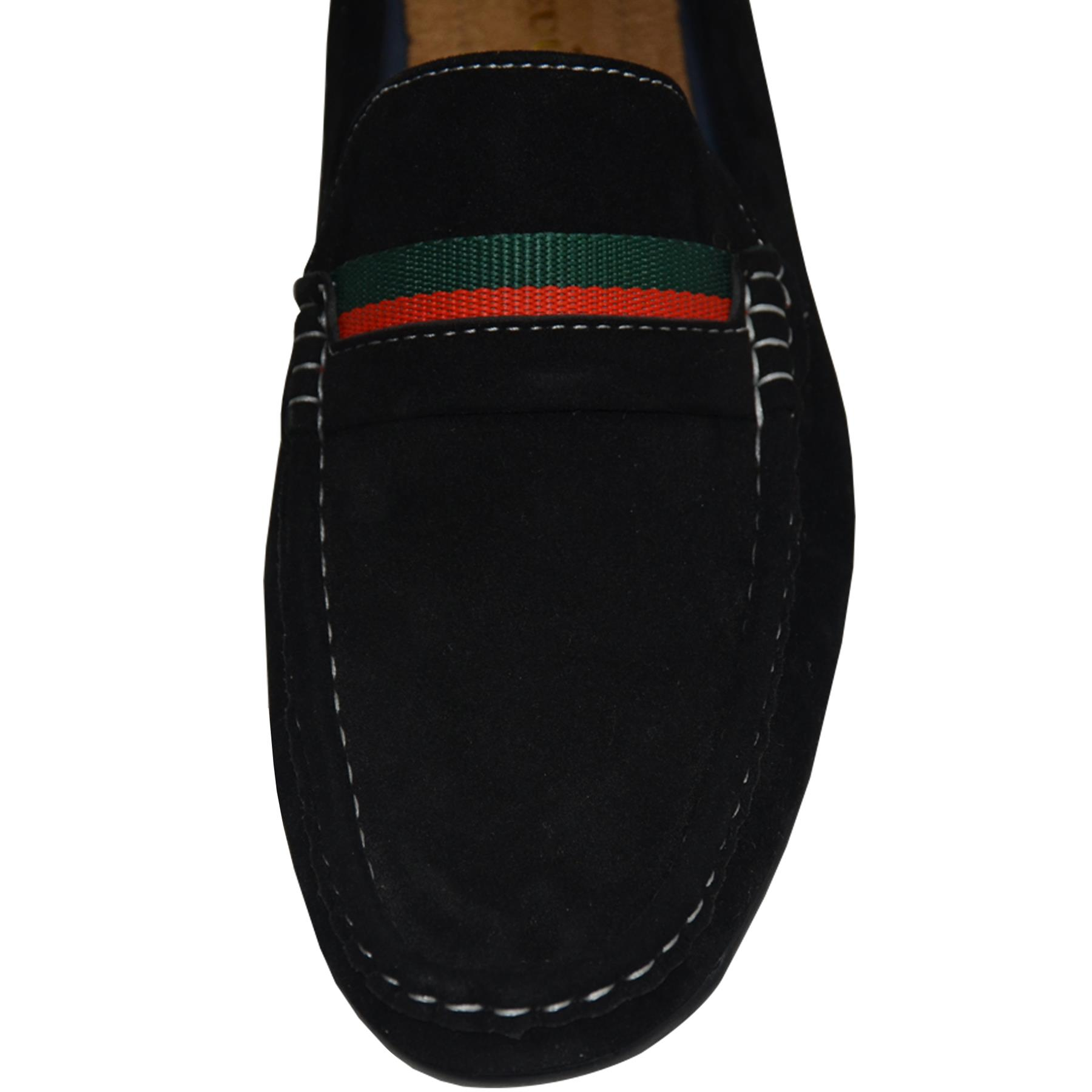 Mens-Slip-Ons-Shoes-Boat-Deck-Driving-Smart-Buckle-Moccasins-Suede-Look-Loafers thumbnail 26