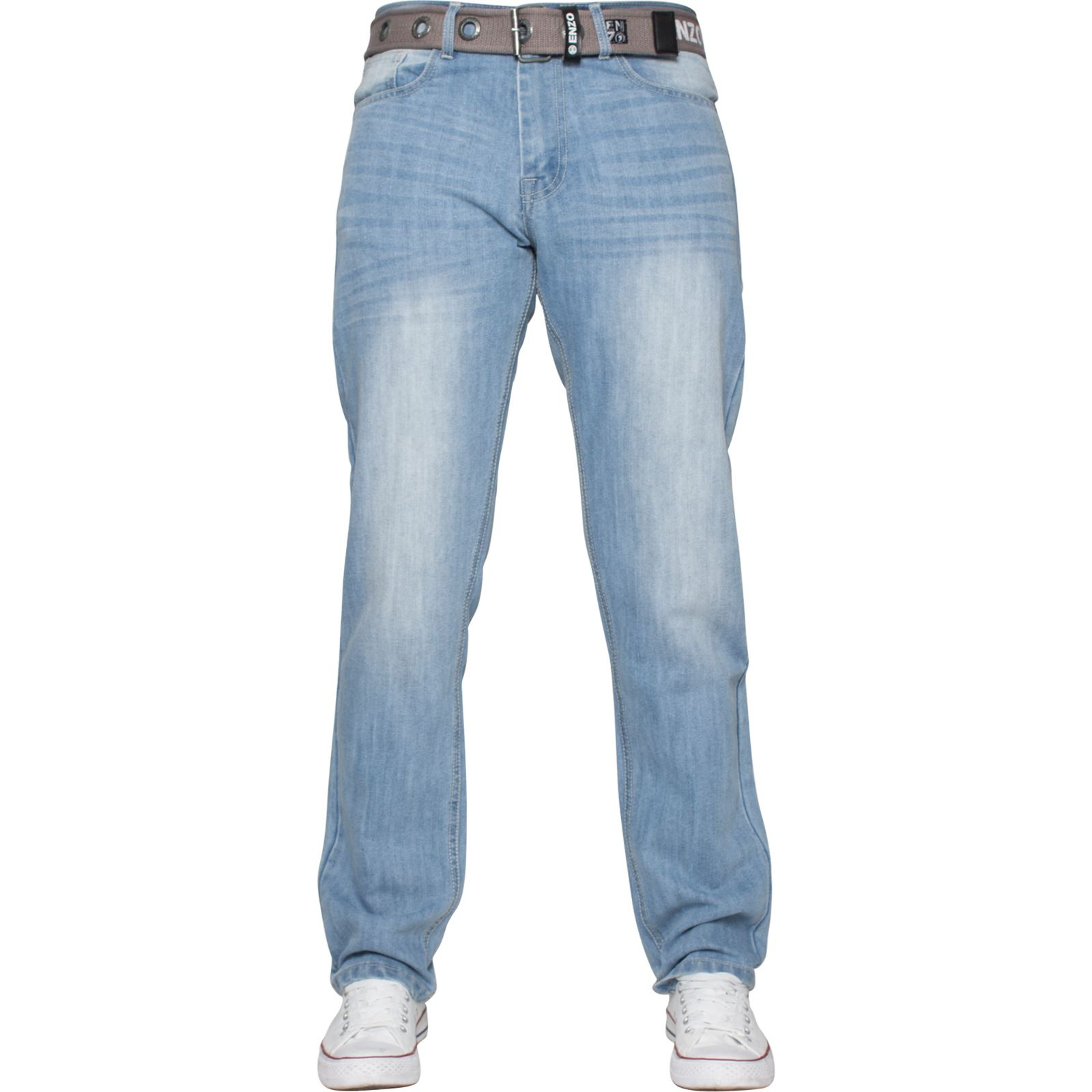 Enzo-Mens-Designer-Jeans-Regular-Fit-Denim-Pants-Big-Tall-All-Waist-Sizes thumbnail 17