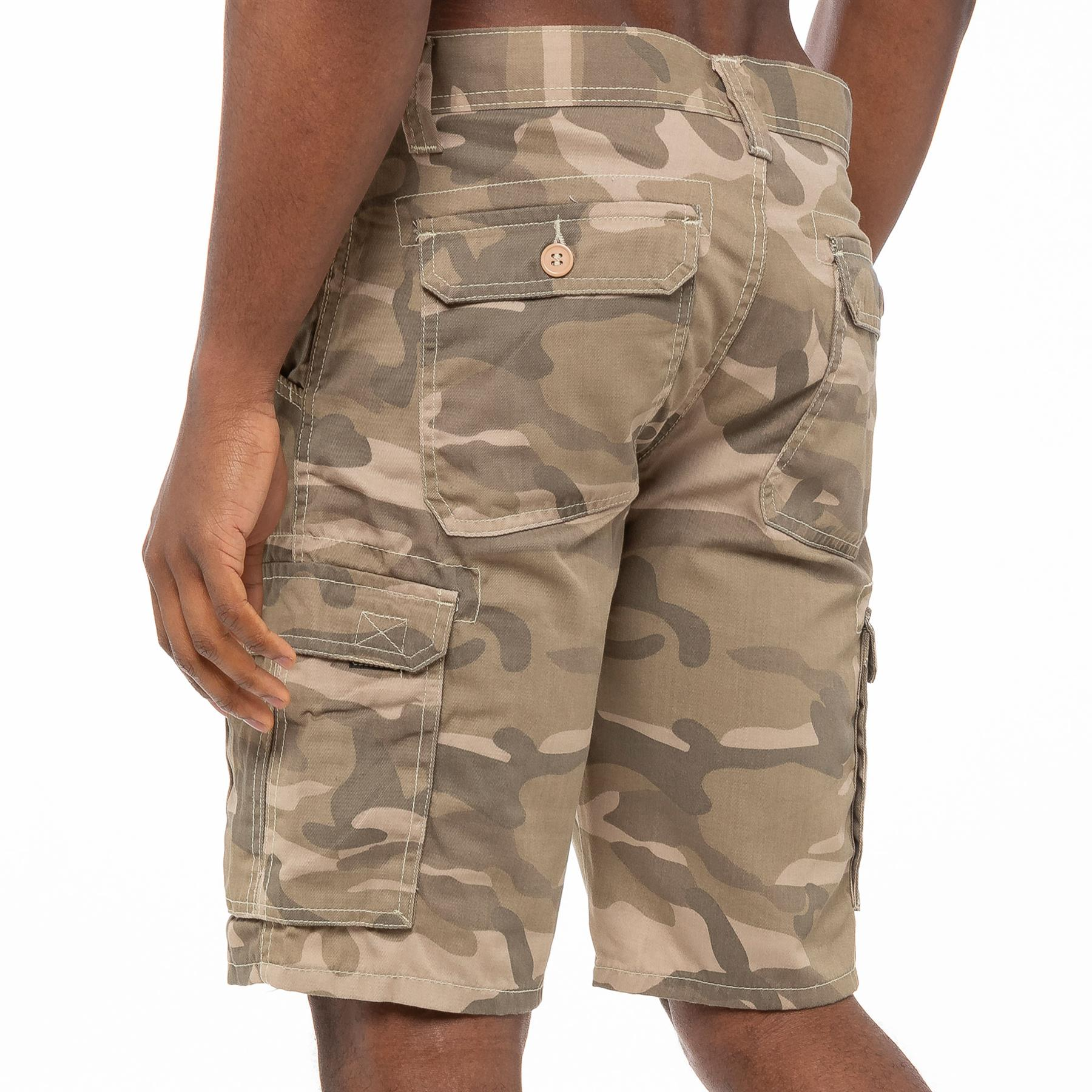 Nuevo Kruze Jeans para Hombre Combate Camuflaje Pantalones Cortos Casual Trabajo