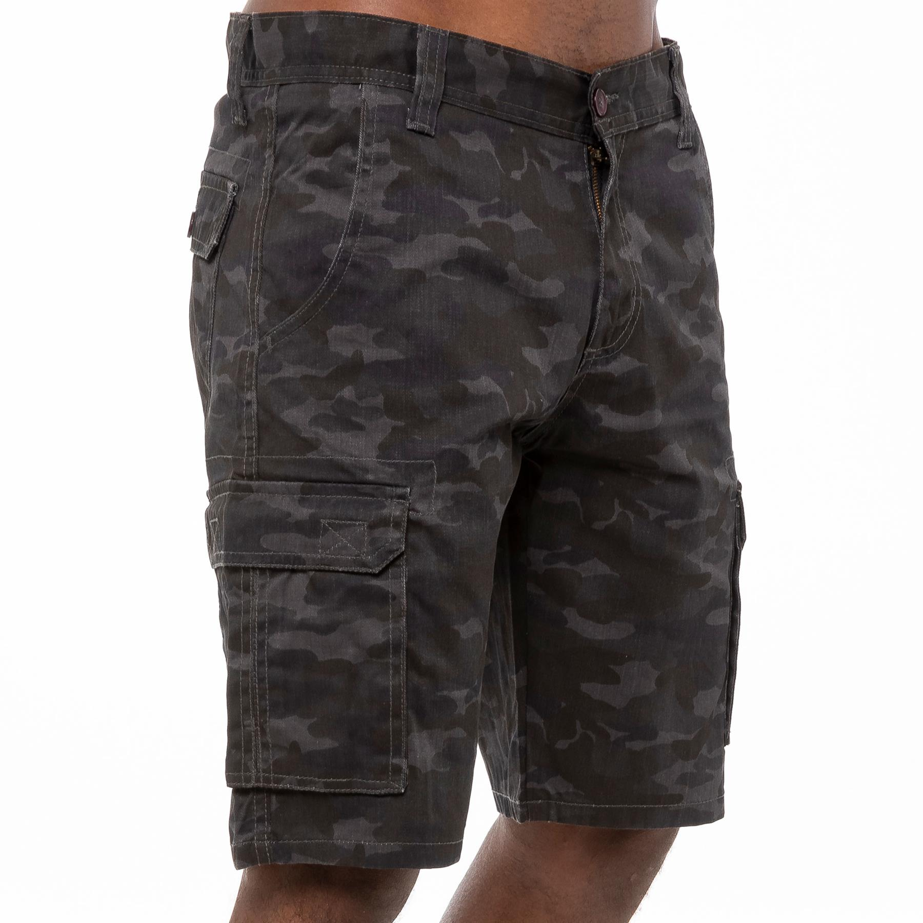 thumbnail 18 - Kruze Jeans Mens Army Combat Shorts Camouflage Cargo Casual Camo Work Half Pants
