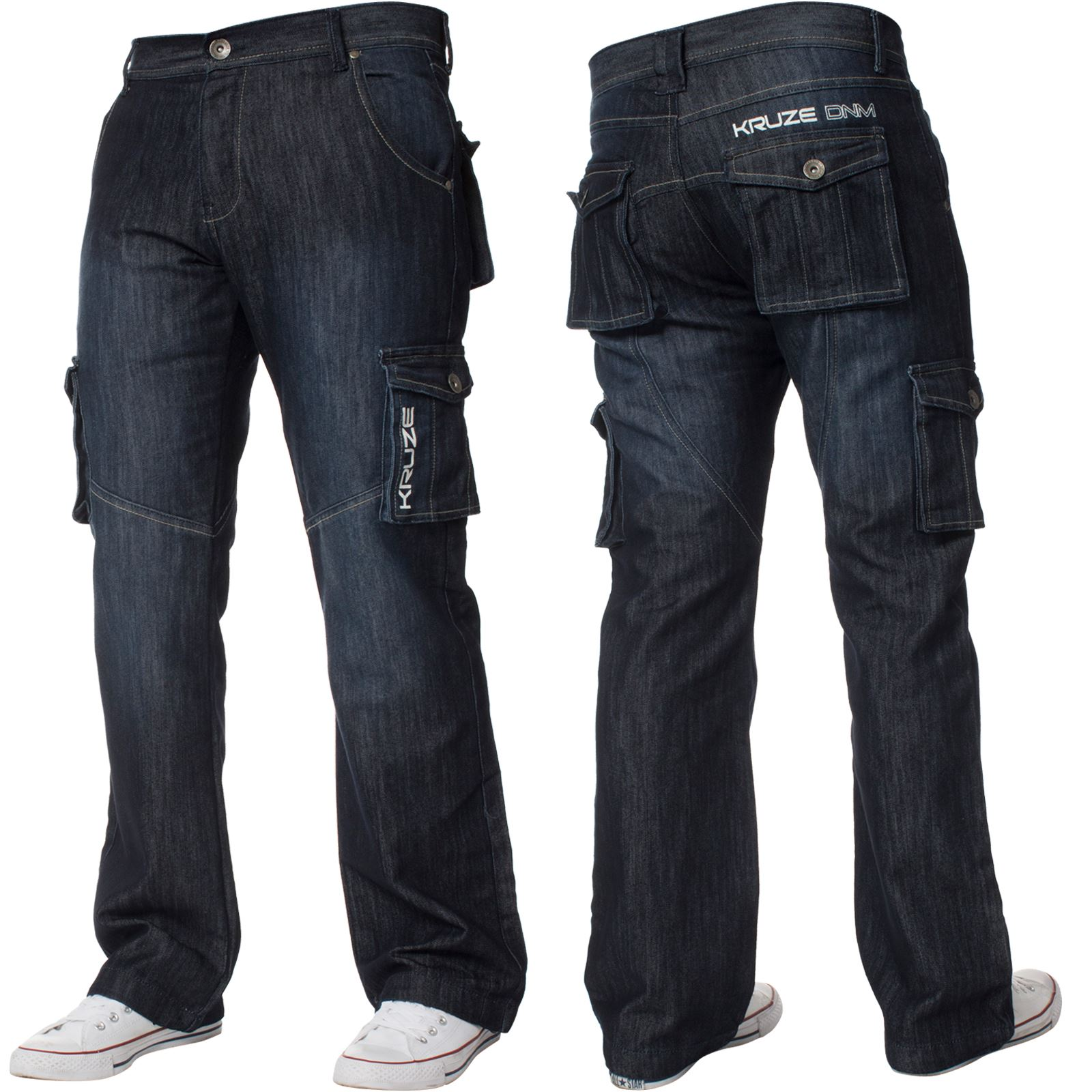Mens-Cargo-Combat-Trousers-Jeans-Heavy-Duty-Work-Casual-Pants-Big-Tall-All-Sizes thumbnail 3