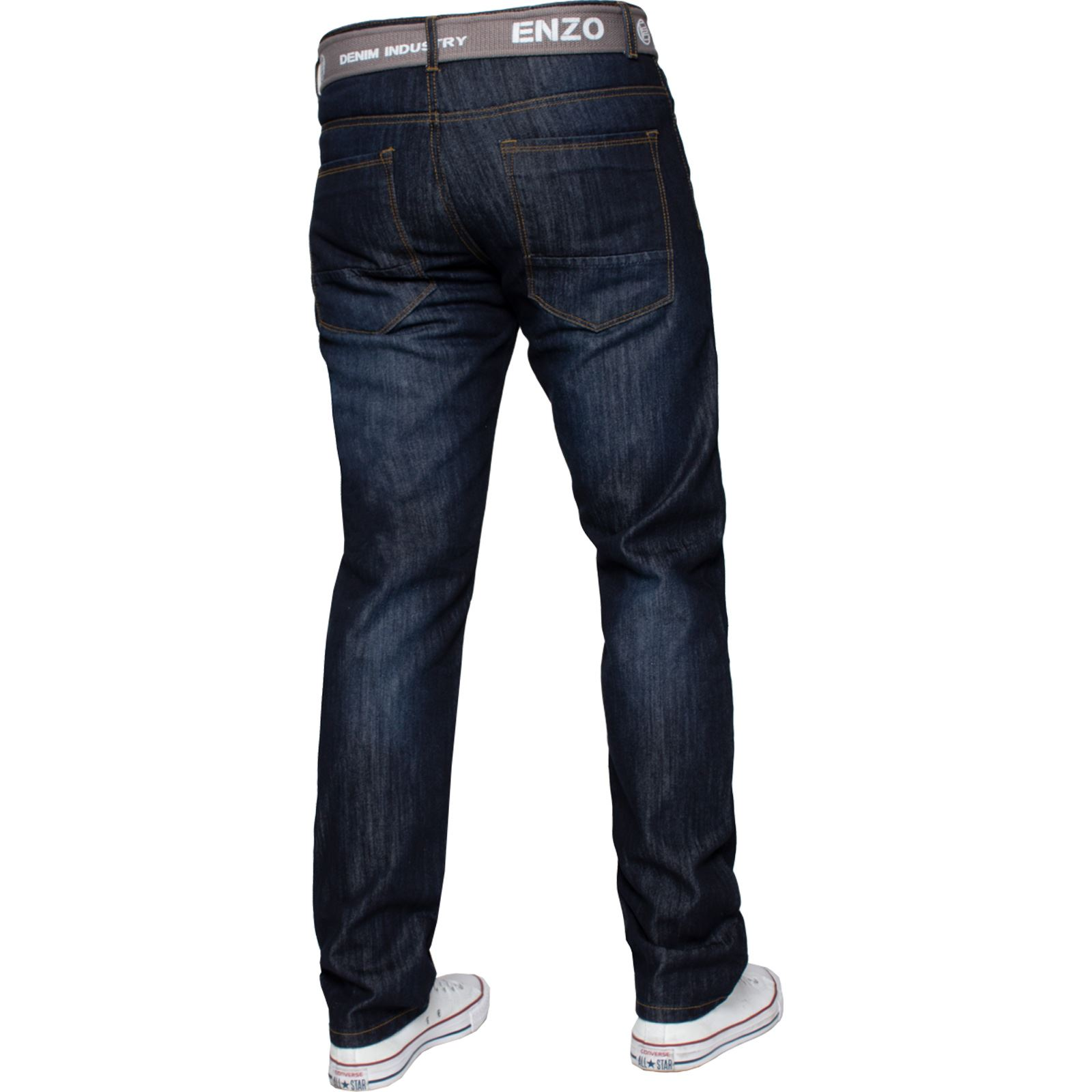 Enzo-Mens-Designer-Jeans-Regular-Fit-Denim-Pants-Big-Tall-All-Waist-Sizes thumbnail 13