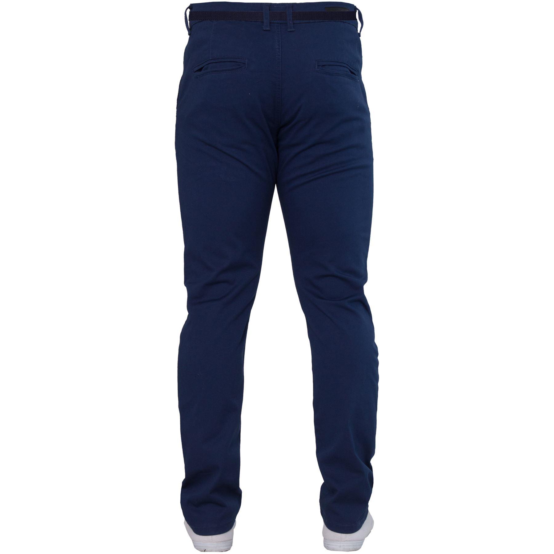 ENZO-Para-Hombres-Pantalones-Slim-Fit-Algodon-Elastico-Pantalones-Chinos-Con-Cinturon-BIG-amp-TALL miniatura 7