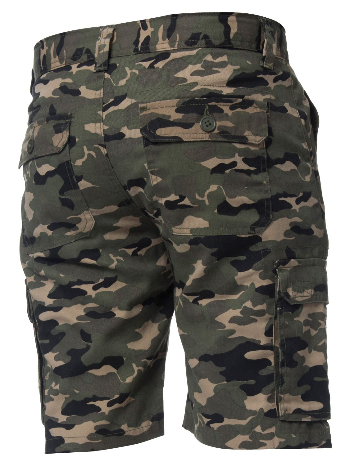 Kruze-Jeans-Mens-Army-Combat-Shorts-Camouflage-Cargo-Casual-Camo-Work-Half-Pants thumbnail 15