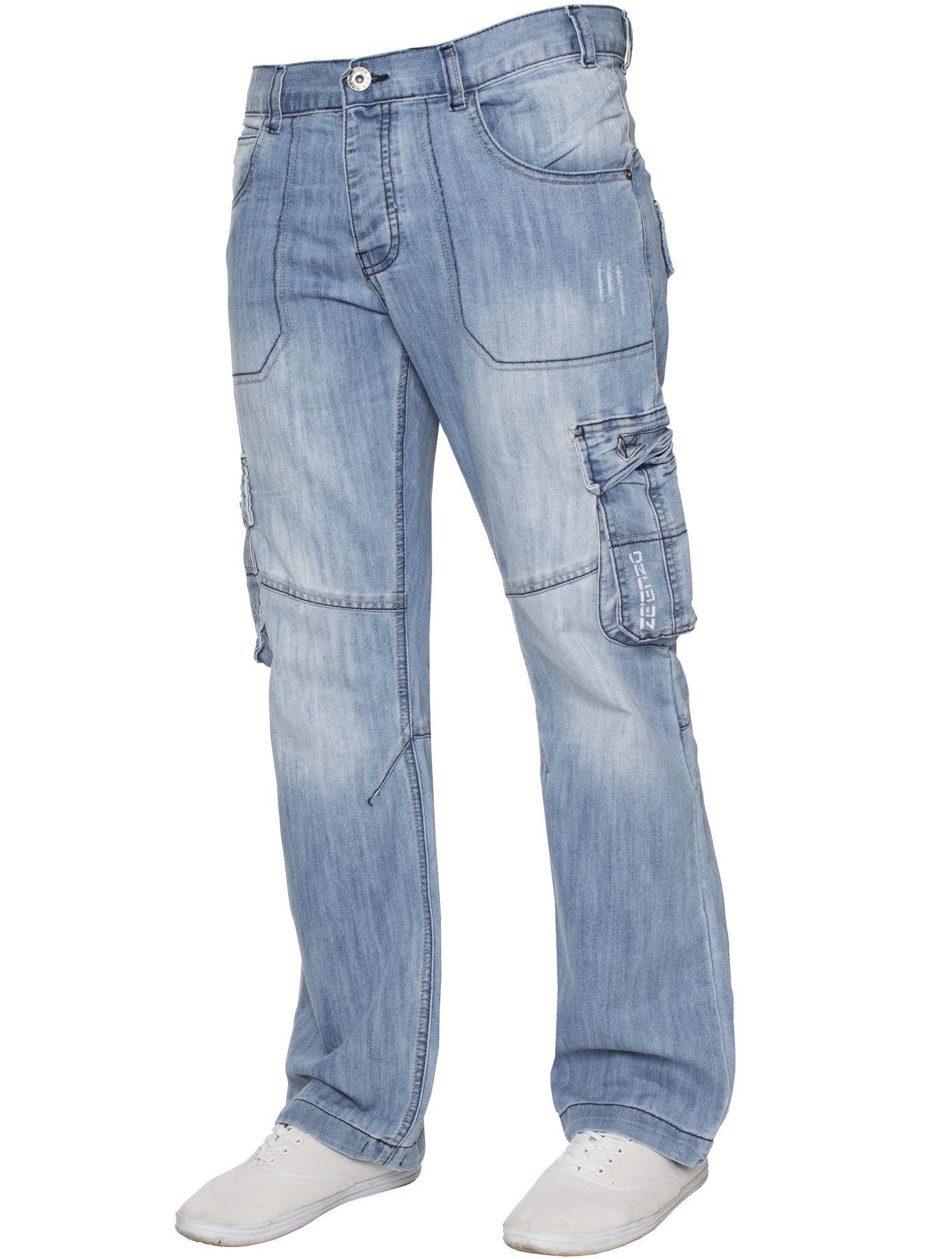 Jeans-Para-Hombre-de-carga-de-combate-pesado-Pantalones-de-trabajo-pantalones-de-mezclilla-Big-King miniatura 46
