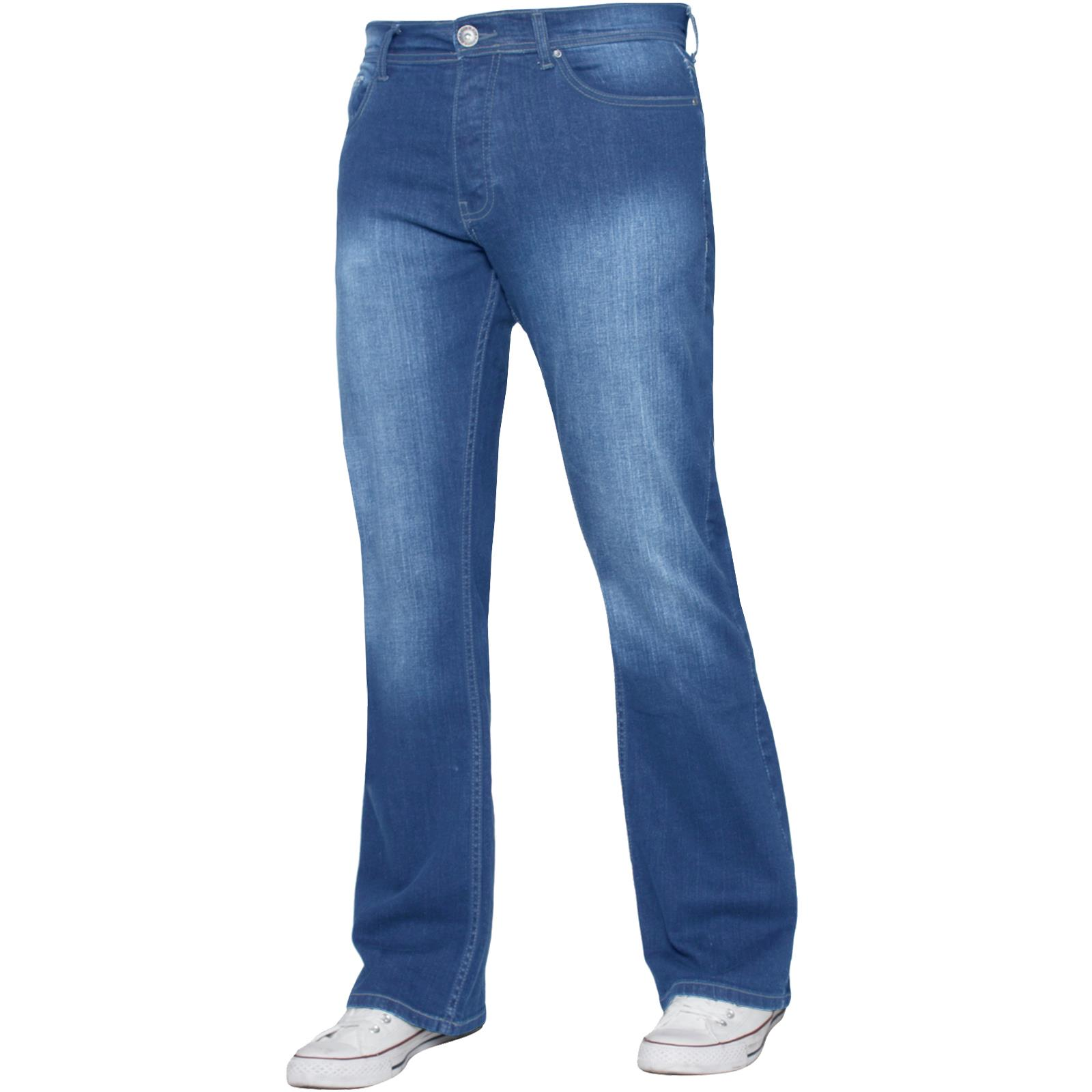 Para-Hombre-Recto-Bootcut-Stretch-Jeans-Pantalones-Regular-Fit-Grande-Alto-Todas-Cinturas miniatura 41