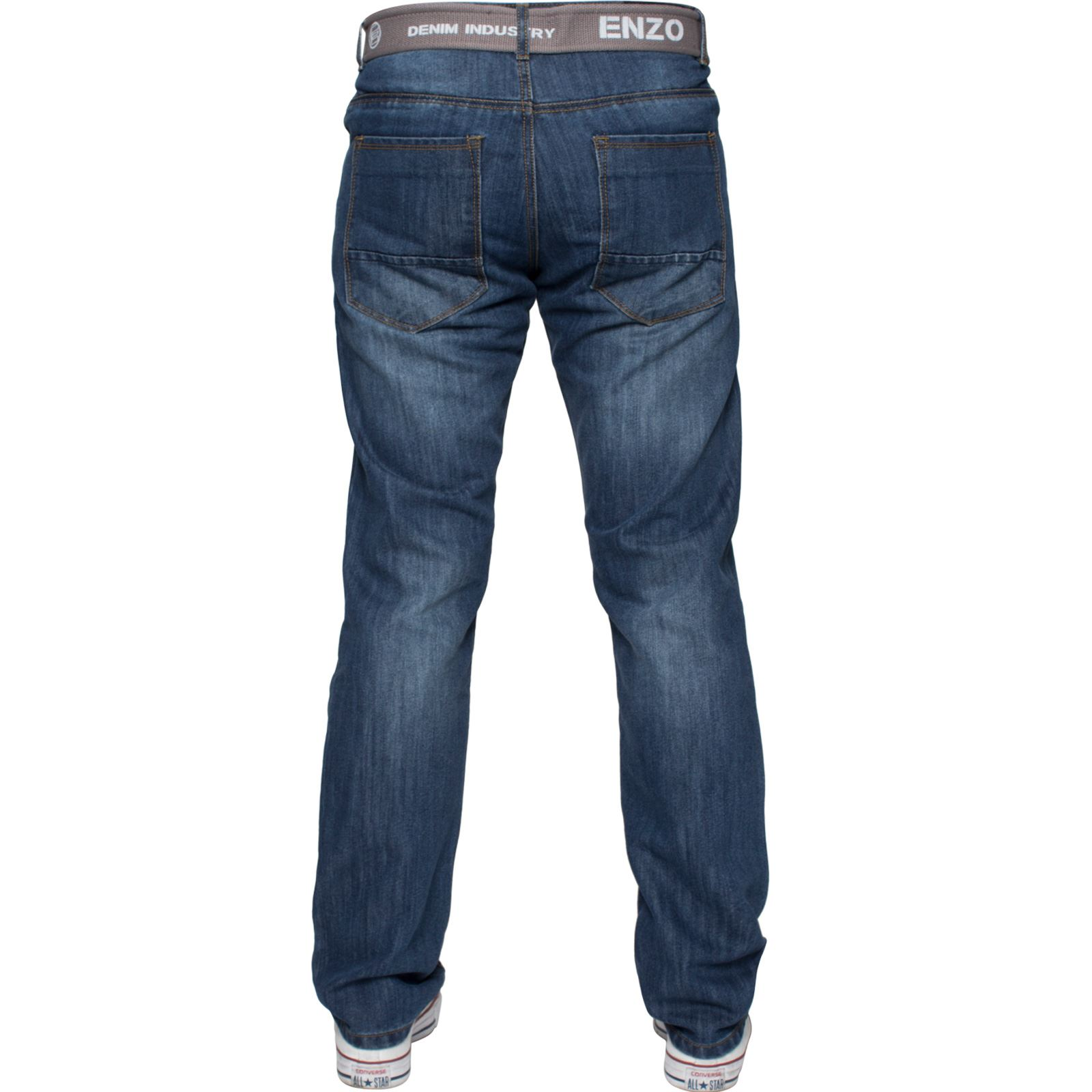 Enzo-Mens-Designer-Jeans-Regular-Fit-Denim-Pants-Big-Tall-All-Waist-Sizes thumbnail 10