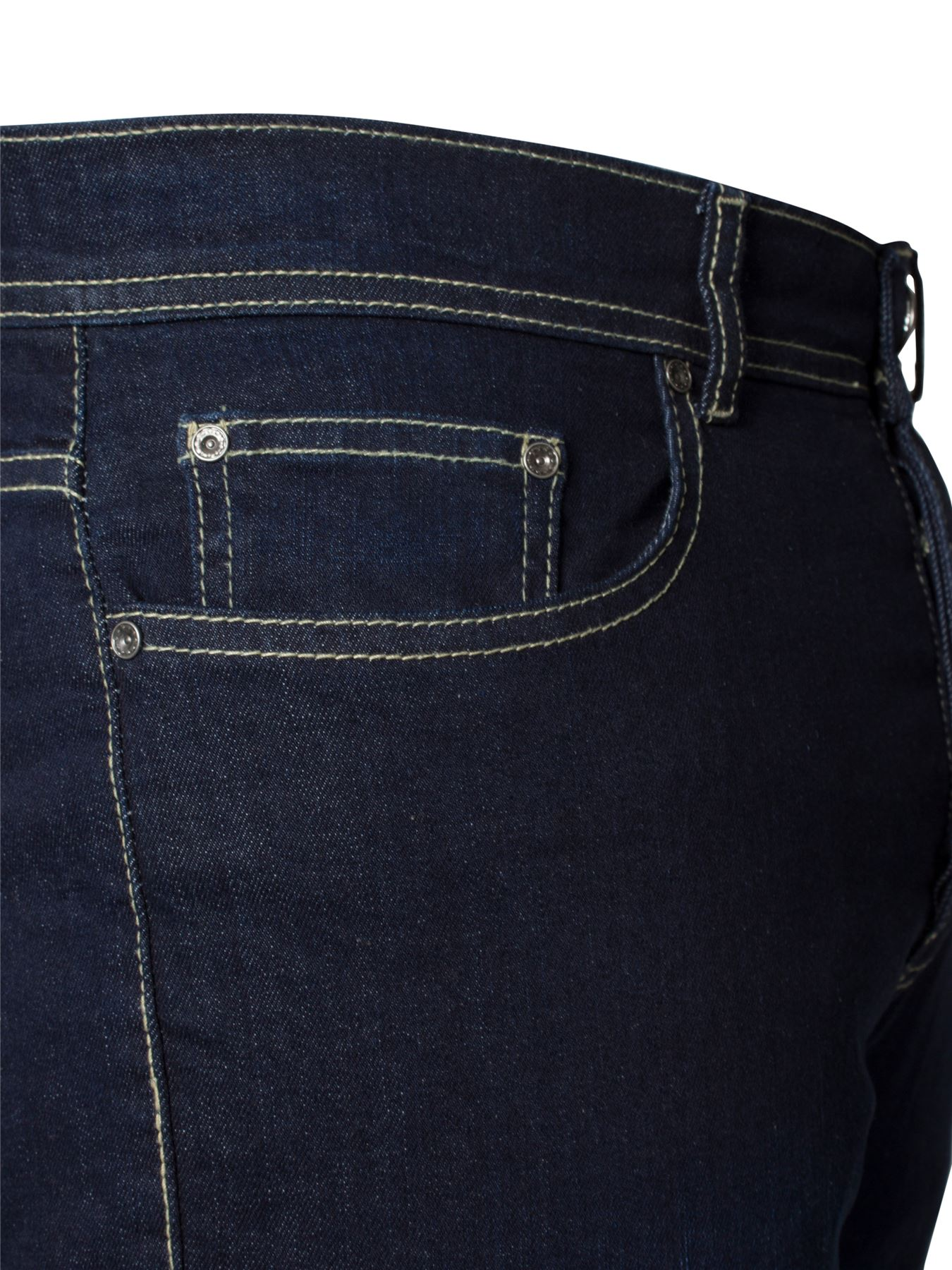 Kruze-Mens-Basic-Straight-Leg-Bootcut-Stretch-Jeans-Denim-Regular-Big-Tall-Waist thumbnail 60