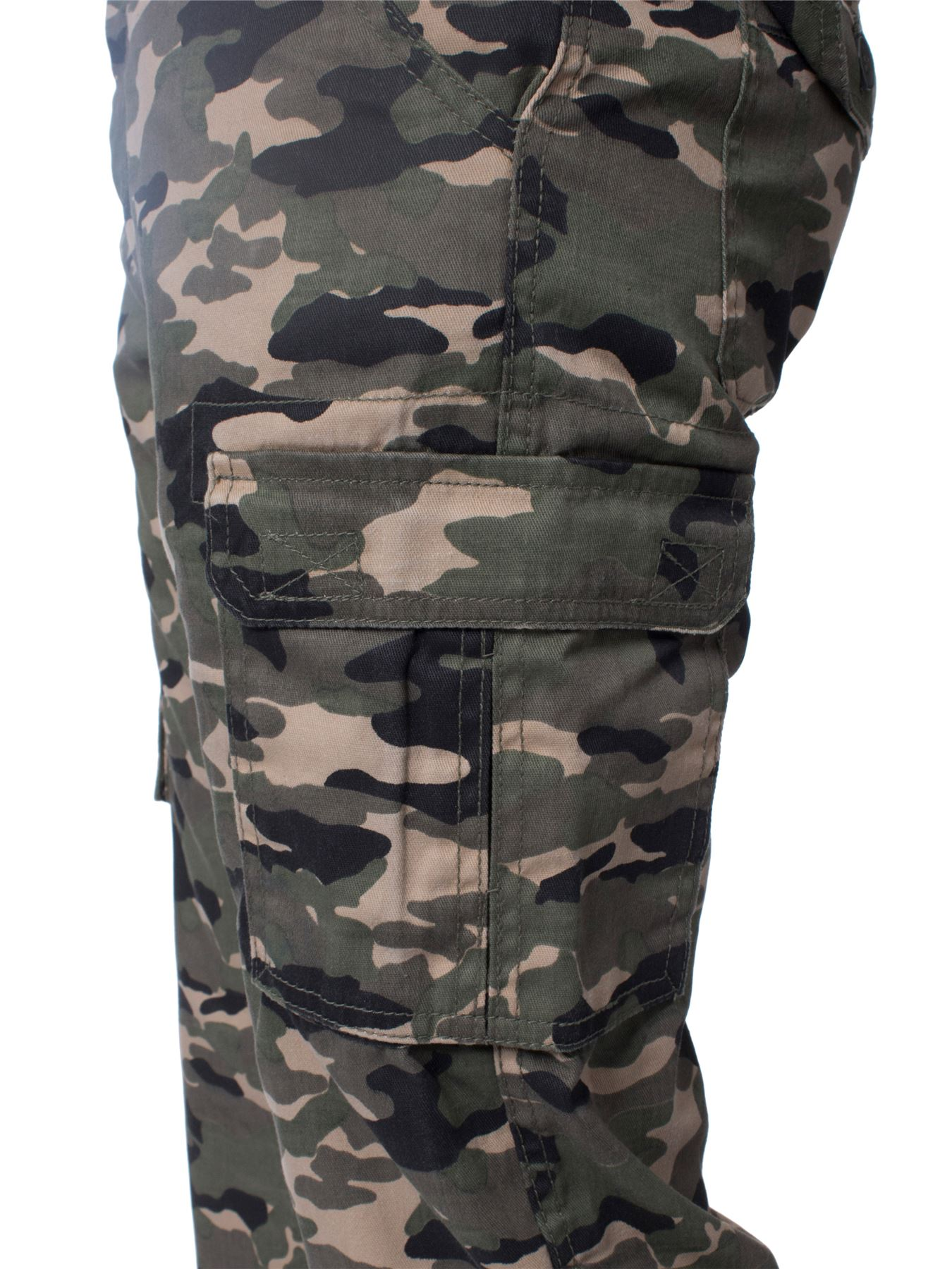 Kruze-Mens-Military-Combat-Trousers-Camouflage-Cargo-Camo-Army-Casual-Work-Pants miniatura 20