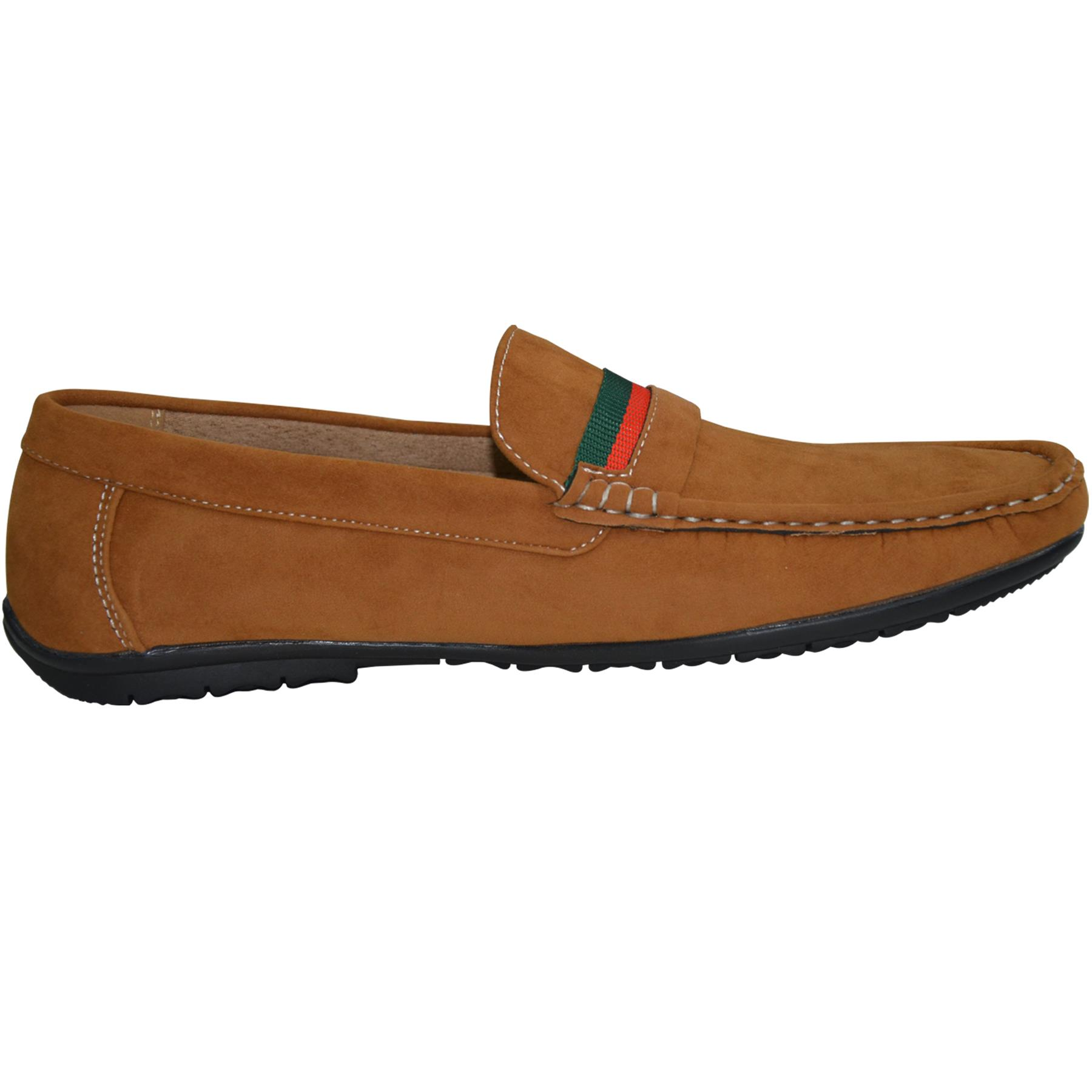 Mens-Slip-Ons-Shoes-Boat-Deck-Driving-Smart-Buckle-Moccasins-Suede-Look-Loafers thumbnail 30