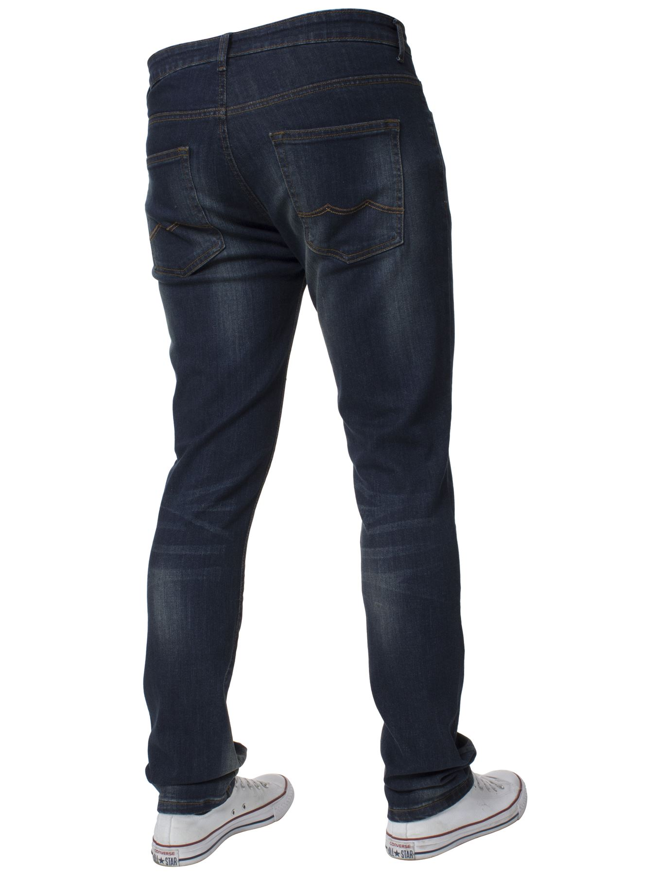 Mens-Skinny-Stretch-Jeans-Slim-Fit-Flex-Denim-Trousers-Pants-King-Sizes-by-Kruze thumbnail 17