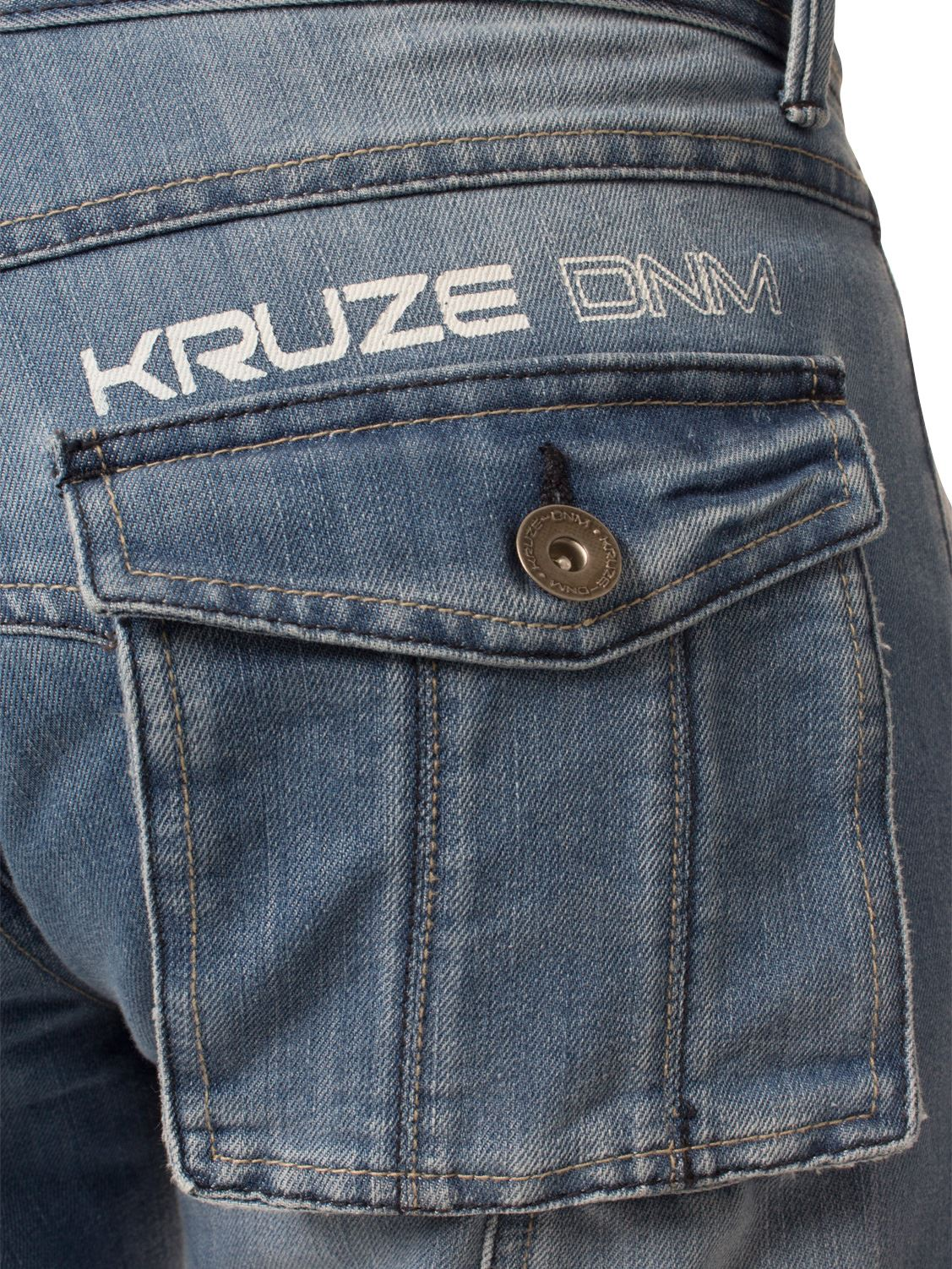 KRUZE-Mens-Combat-Jeans-Casual-Cargo-Work-Pants-Denim-Trousers-All-Waist-Sizes thumbnail 9