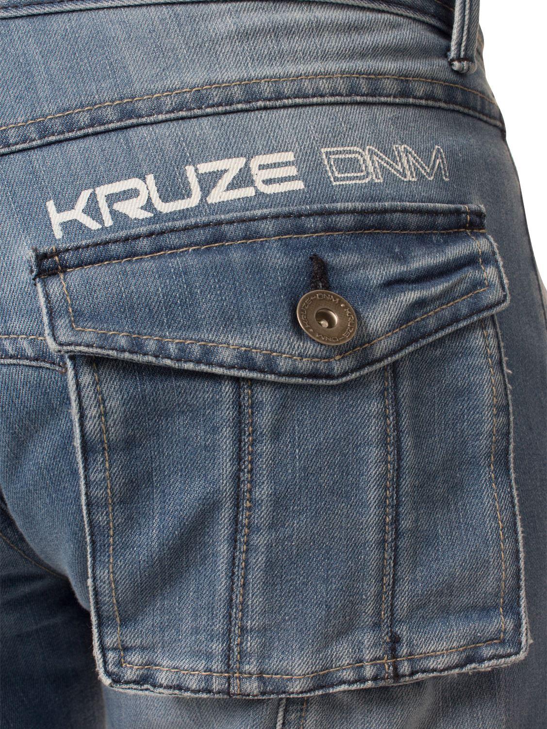 Mens-Jeans-Combate-Carga-Informal-Kruze-Trabajo-Pantalones-Cintura-Tallas-Denim-Pantalones-de-vestir miniatura 9