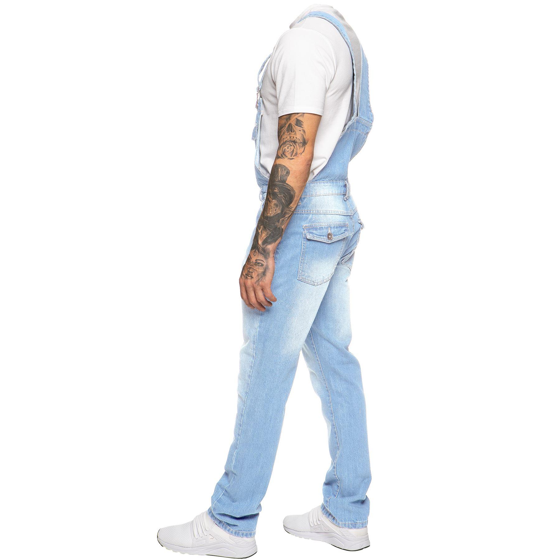 ENZO-Jeans-Hombre-Denim-Azul-Peto-Peto-overoles-Todas-Cinturas-Talla-30-034-50-034 miniatura 13