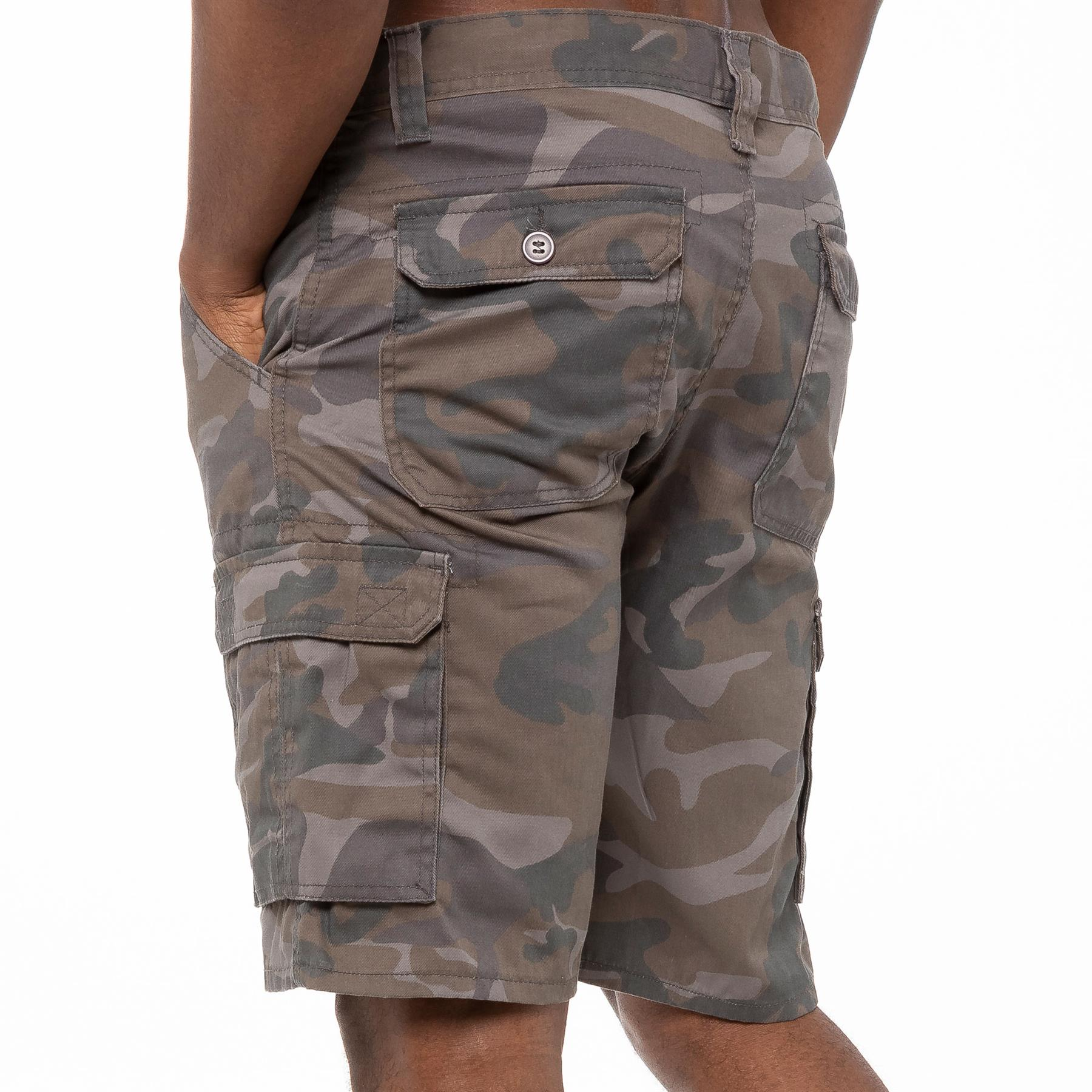 thumbnail 10 - Kruze Jeans Mens Army Combat Shorts Camouflage Cargo Casual Camo Work Half Pants