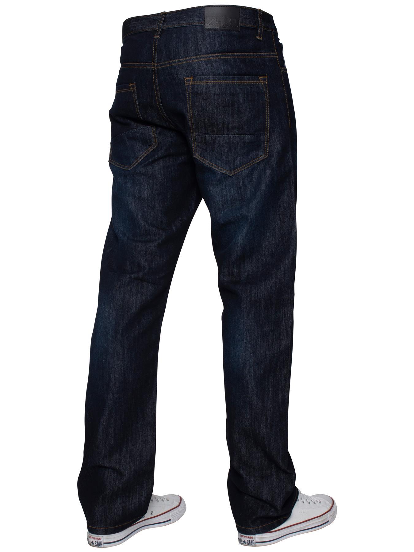 Mens-Regular-Fit-Jeans-Straight-Leg-Denim-Pants-Trousers-Pants-All-Waist-Sizes thumbnail 18