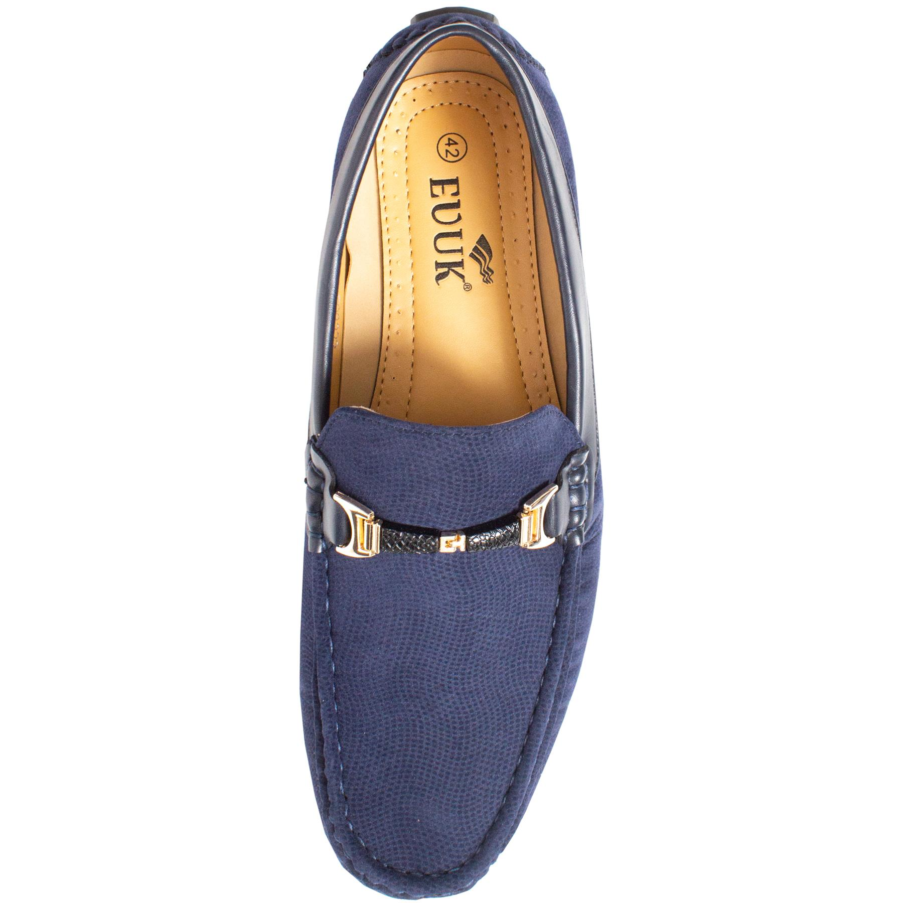 Mens-Slip-Ons-Shoes-Boat-Deck-Driving-Smart-Buckle-Moccasins-Suede-Look-Loafers thumbnail 47