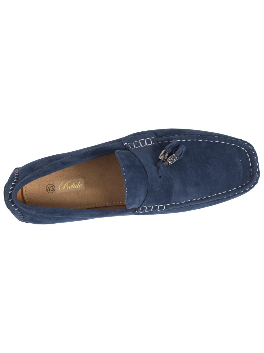 Mens-Slip-Ons-Shoes-Boat-Deck-Driving-Smart-Buckle-Moccasins-Suede-Look-Loafers thumbnail 66