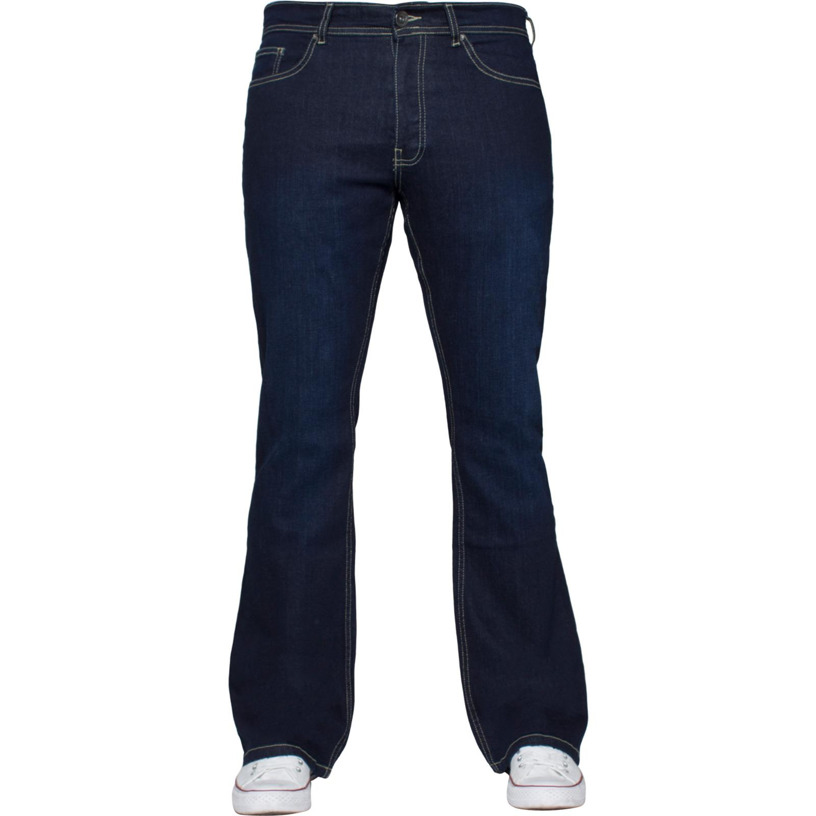Mens-Straight-Bootcut-Jeans-Stretch-Denim-Pants-Regular-Fit-Big-Tall-All-Waists thumbnail 50