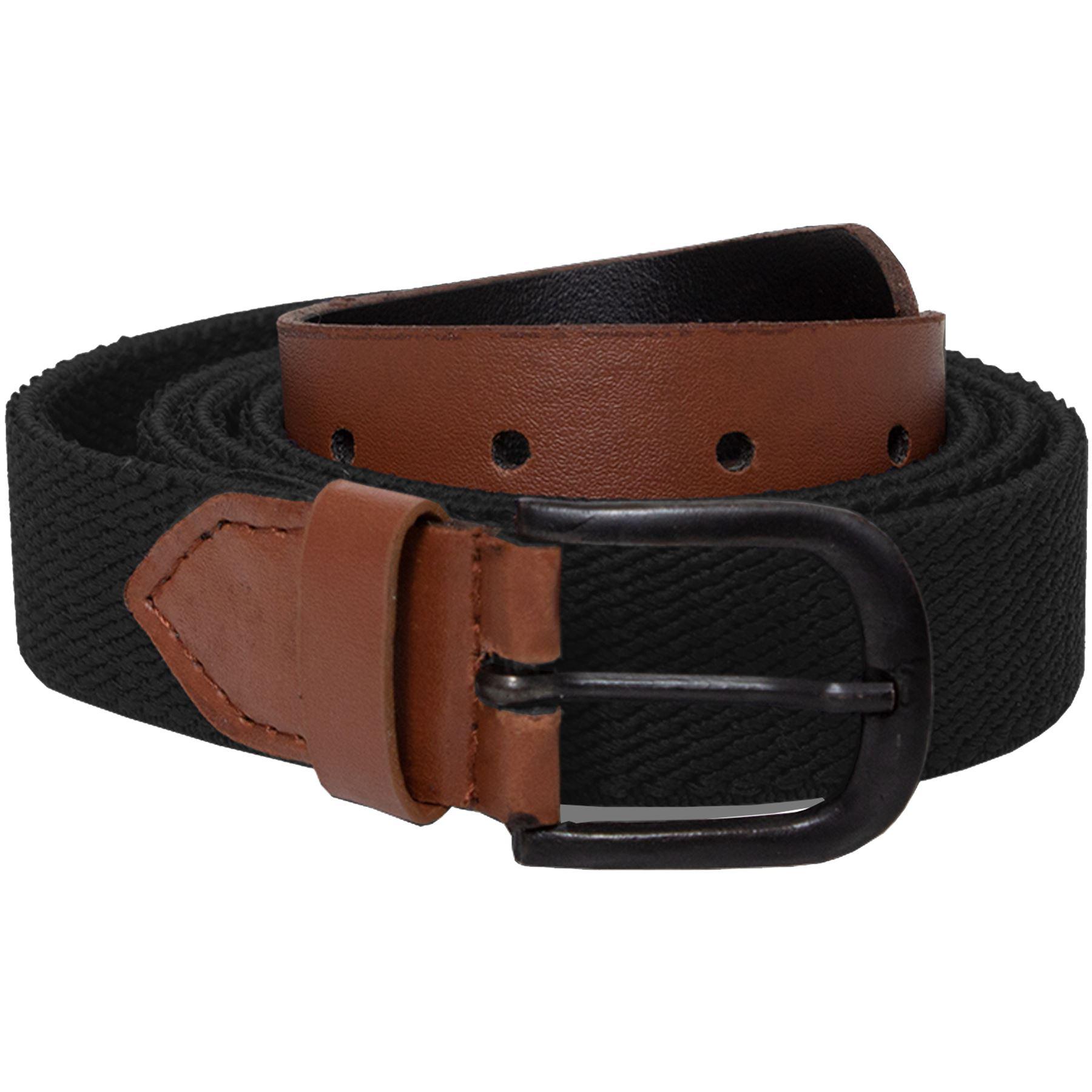 Mens-Ladies-Elasticated-Webbing-Belts-PU-Leather-Trim-Stretch-Canvas-Buckle-Belt Indexbild 10