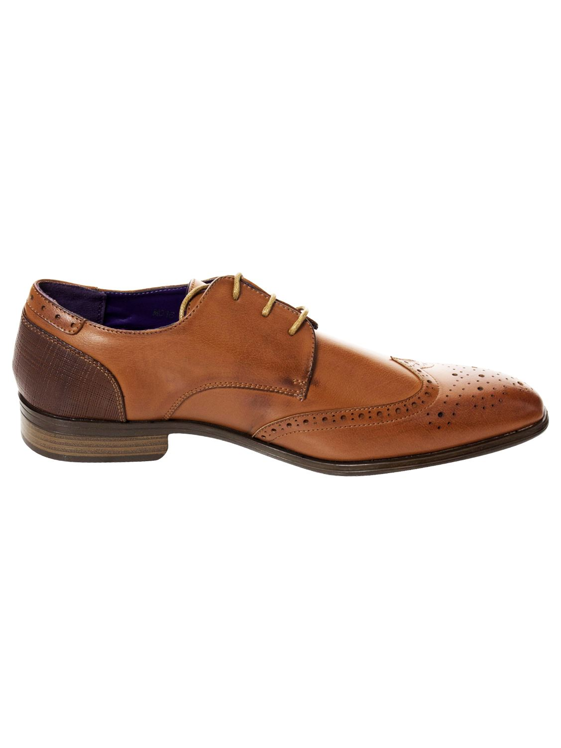 Mens-Faux-Leather-Shoes-Smart-Formal-Wedding-Office-Lace-Up-Designer-Brogues thumbnail 24