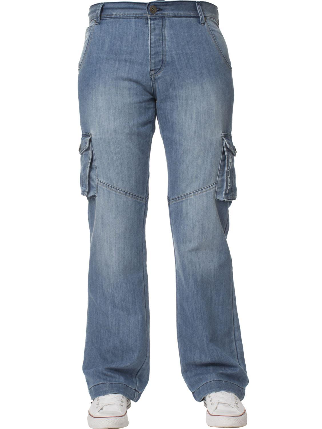 Grandes-jeans-para-hombre-de-combate-de-Kruze-Rey-Alto-Pierna-Cargo-Pantalones-Jeans-Pantalones miniatura 27
