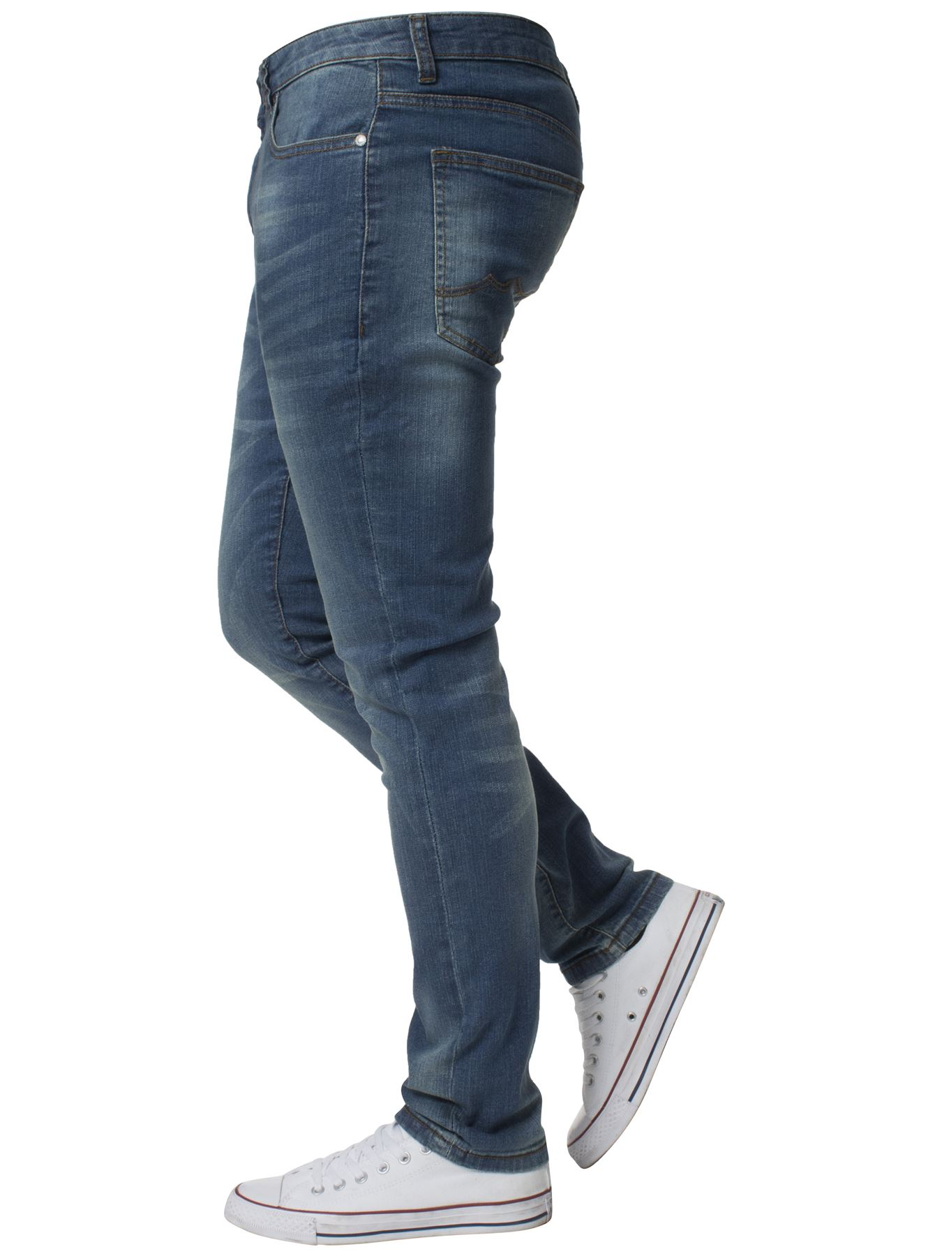 Mens-Skinny-Stretch-Jeans-Slim-Fit-Flex-Denim-Trousers-Pants-King-Sizes-by-Kruze thumbnail 25