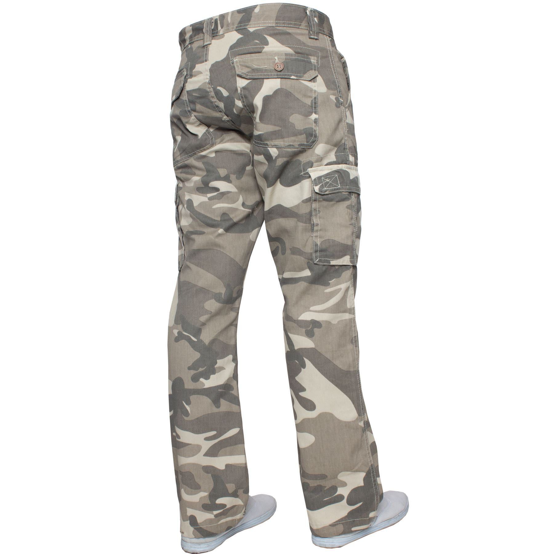 Kruze-Mens-Military-Combat-Trousers-Camouflage-Cargo-Camo-Army-Casual-Work-Pants miniatura 4