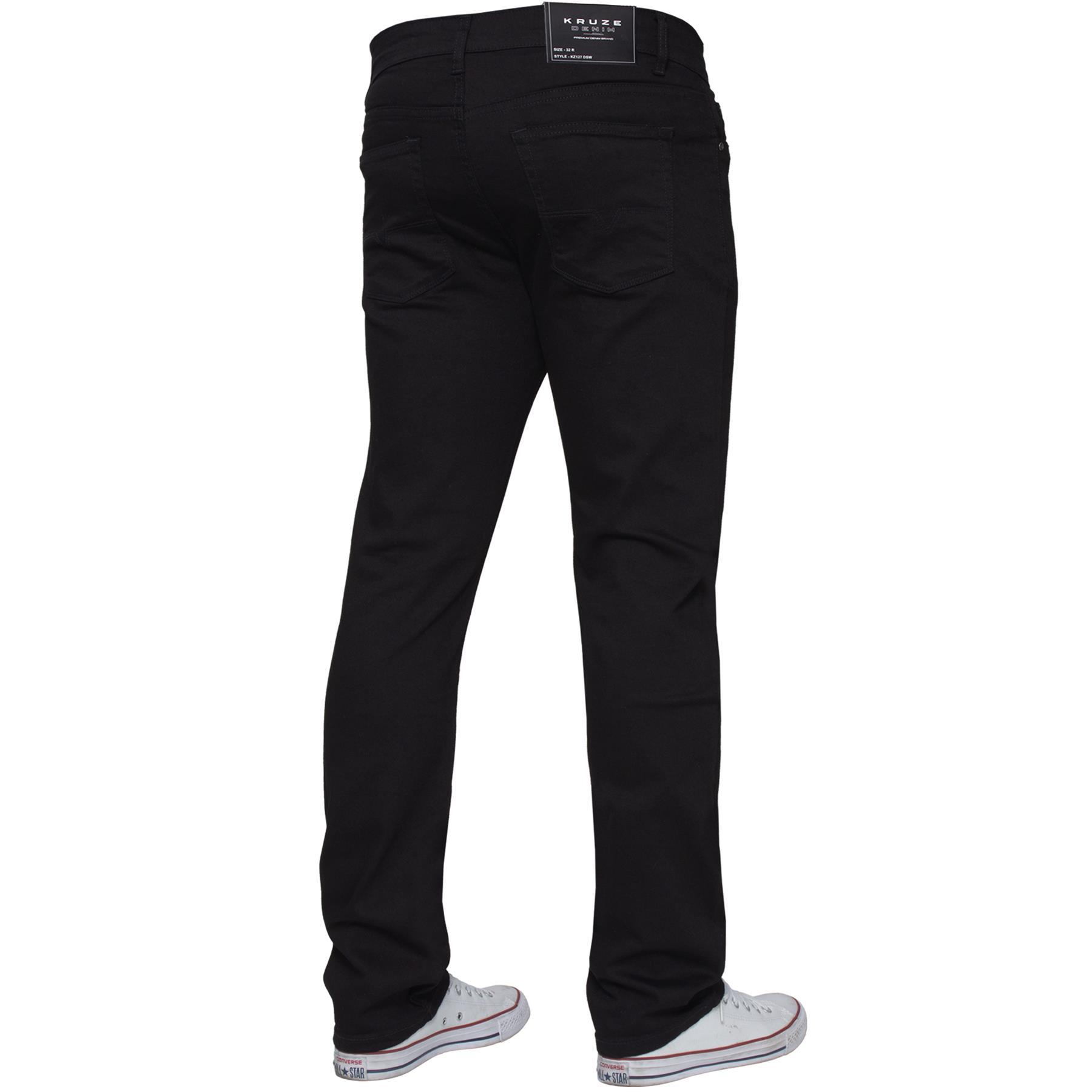 Para-Hombre-Pierna-Recta-Bootcut-Stretch-Denim-Regulares-Pantalon-de-trabajo-Kruze-Todas-Cinturas miniatura 22