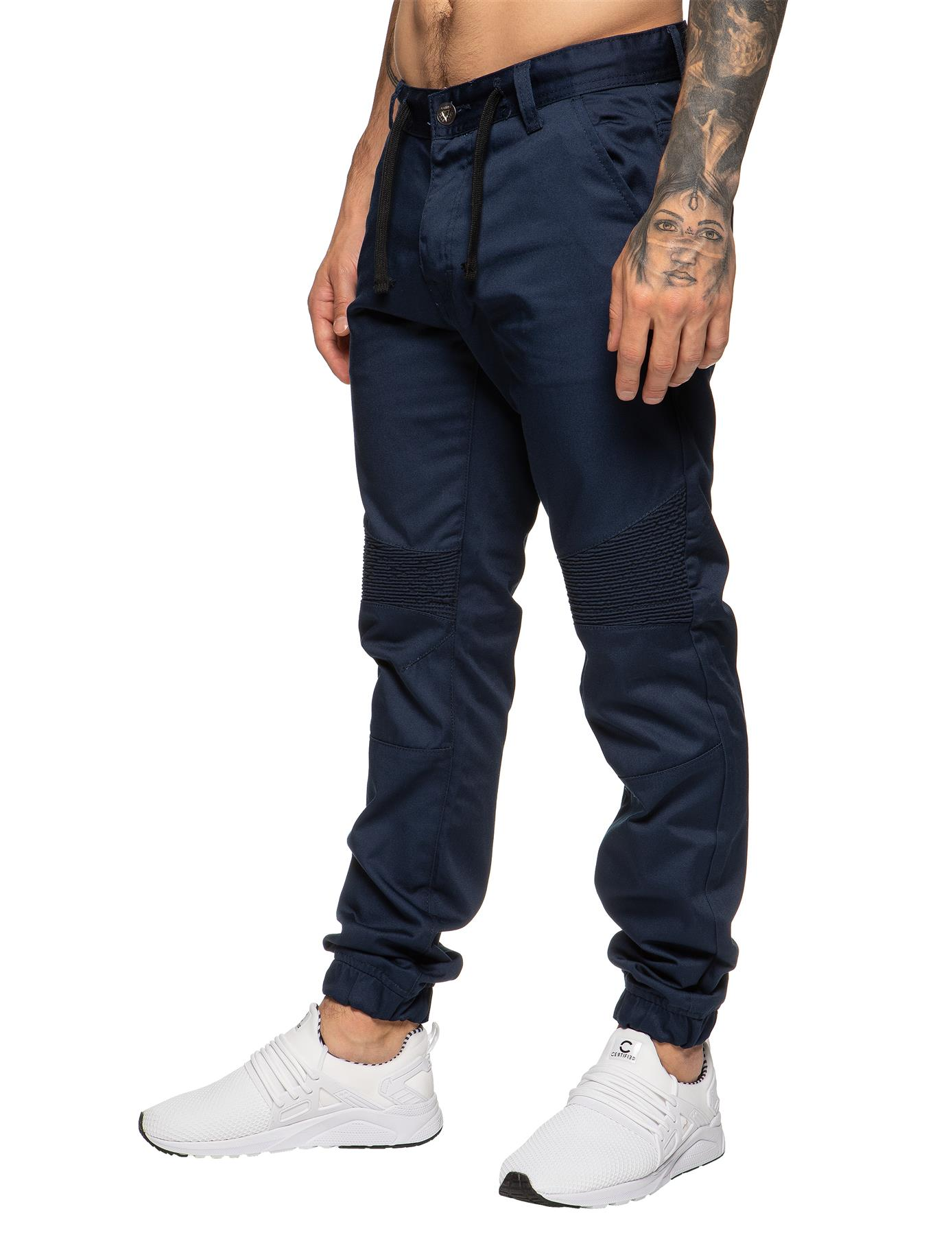 Nouvelle hommes enzo chino Basic Stretch Slim Jeans Pantalon Pantalon Taille Tailles S1