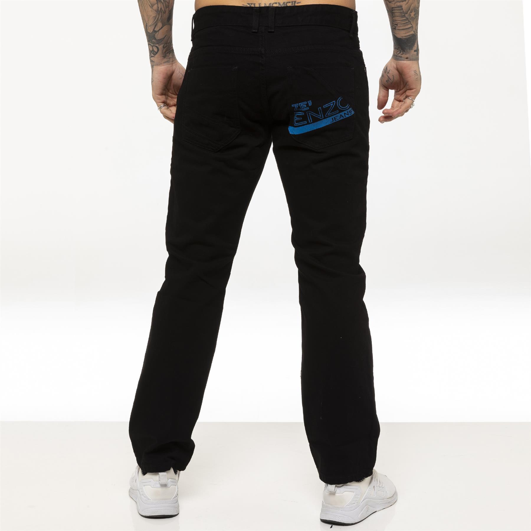 miniature 5 - Enzo pour homme coupe droite regular leg homme travail Denim Pantalon Toutes Tailles Tailles