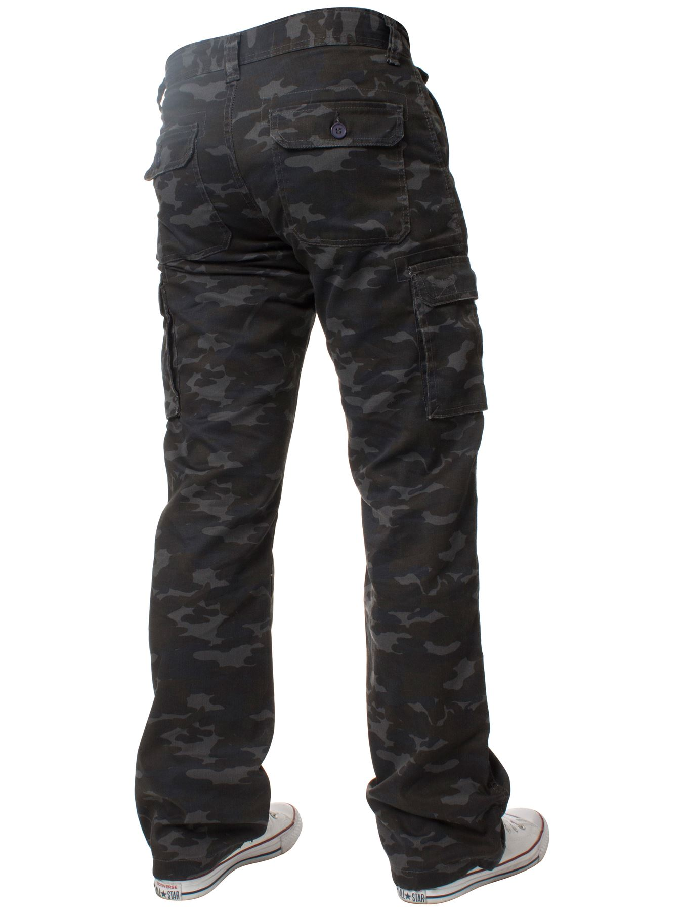 Kruze-Mens-Military-Combat-Trousers-Camouflage-Cargo-Camo-Army-Casual-Work-Pants miniatura 32